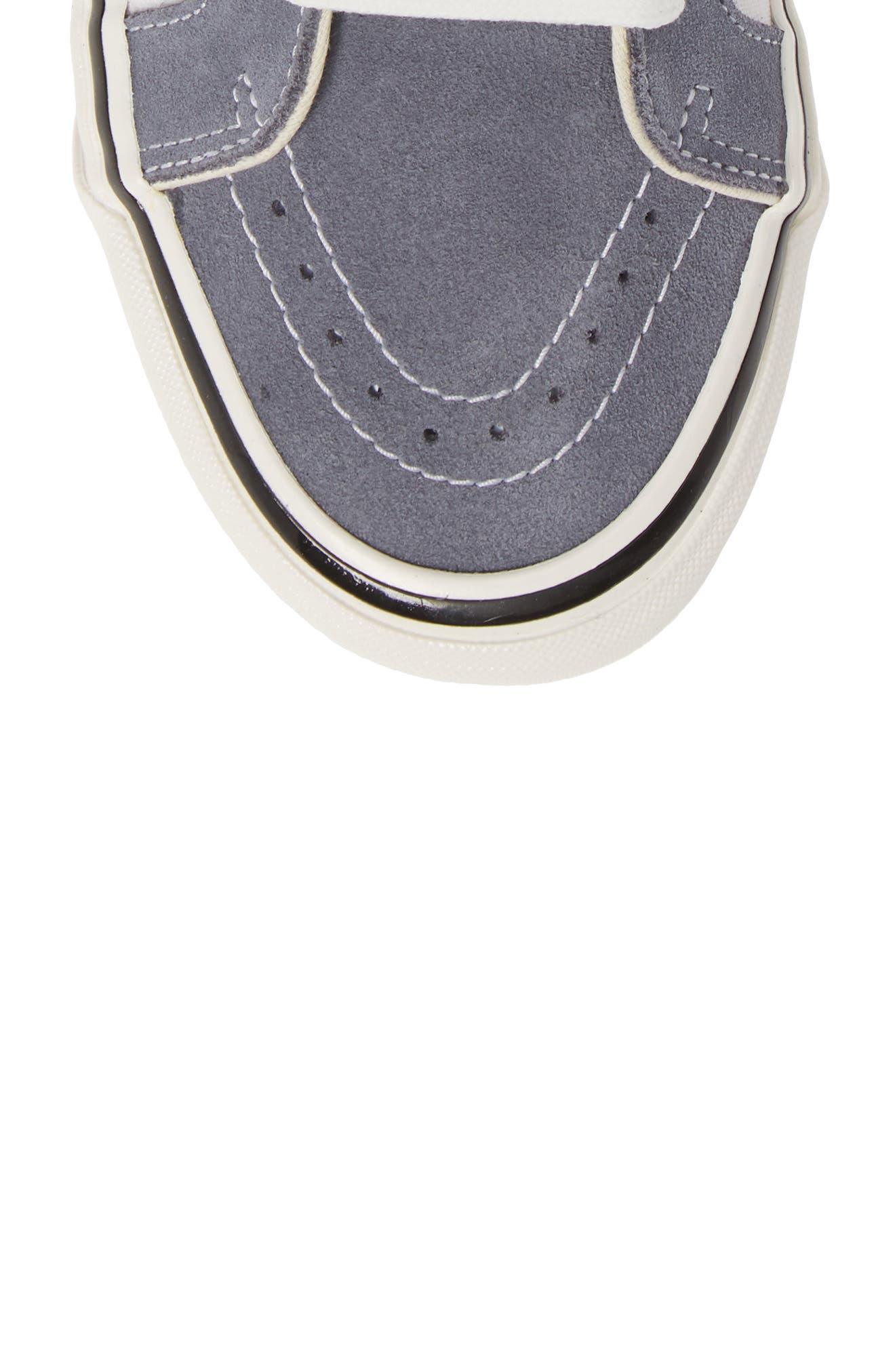 UA Sk8-Hi 38 DX Sneaker,                             Alternate thumbnail 5, color,                             DARK GREY/ WHITE
