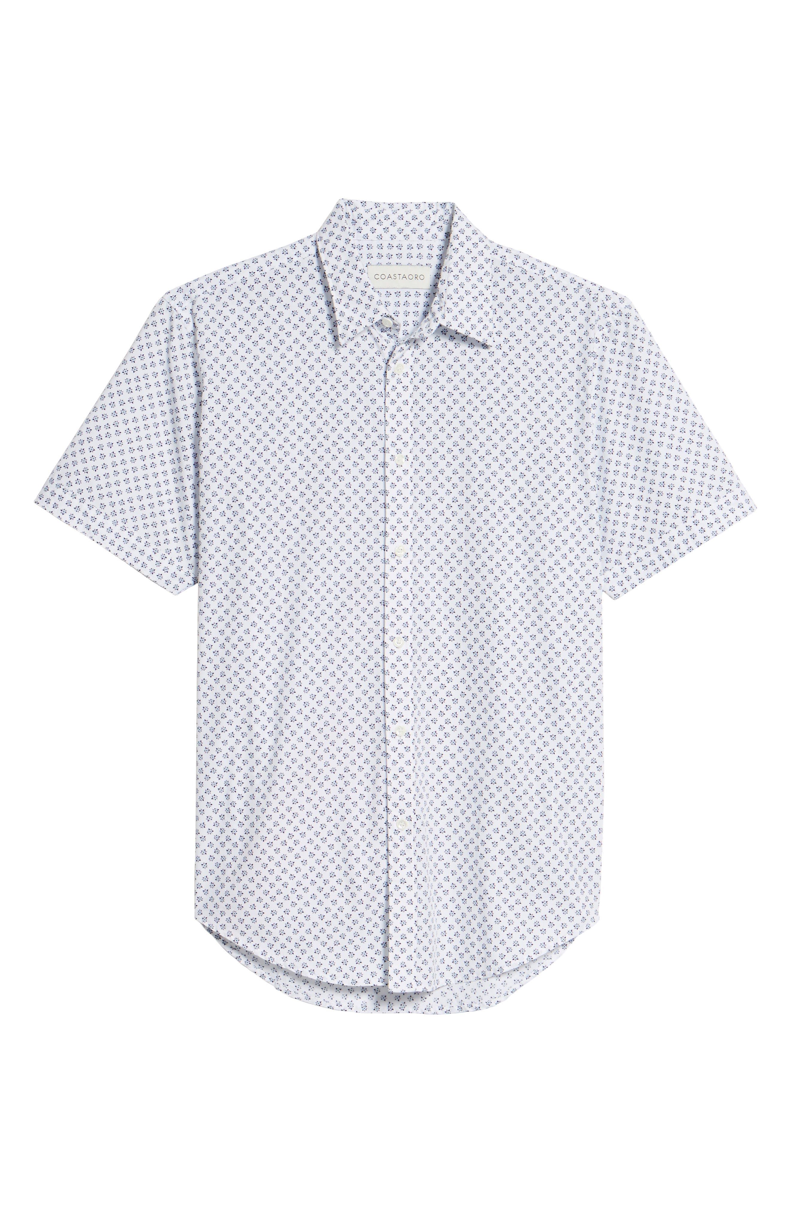 Santo Regular Fit Print Sport Shirt,                             Alternate thumbnail 6, color,                             001