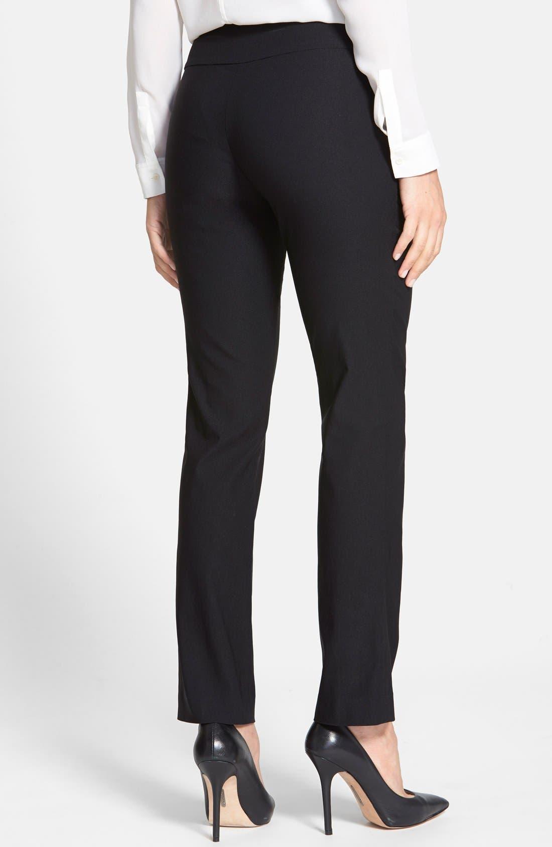 Wonderstretch Straight Leg Pants,                             Alternate thumbnail 8, color,                             BLACK ONYX