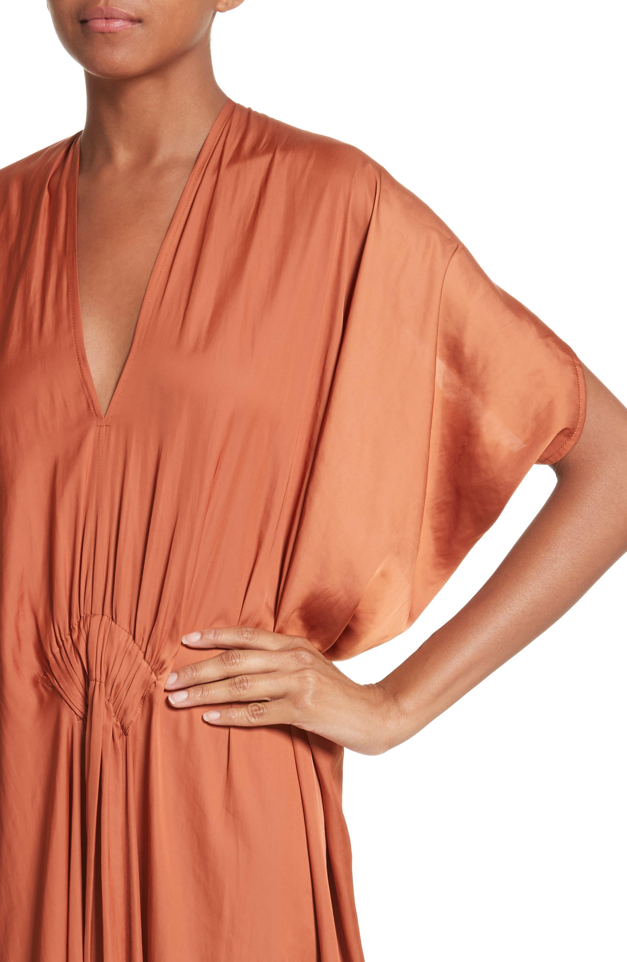 Drape Drift Dress,                             Alternate thumbnail 4, color,                             800