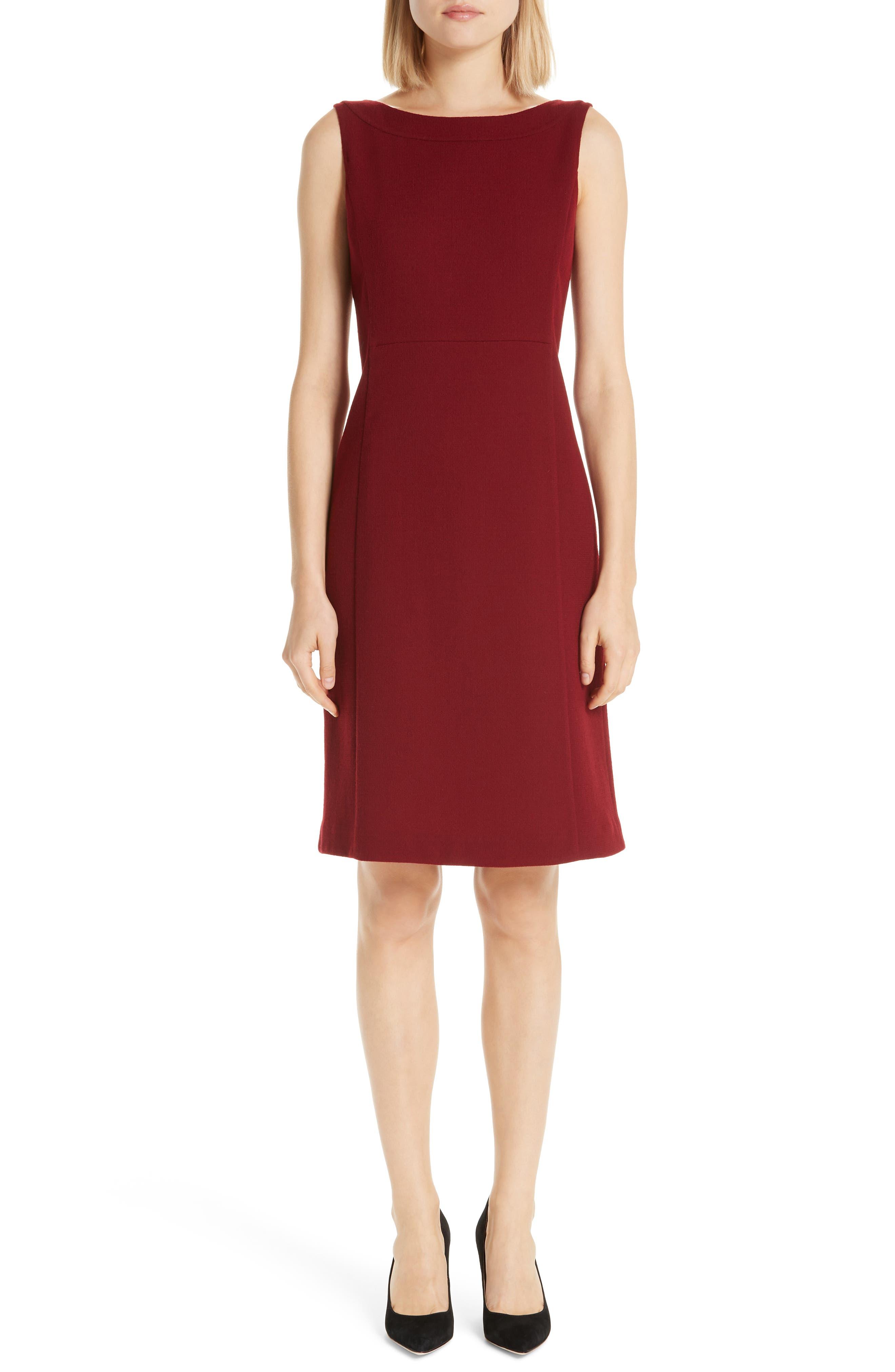 Paxton Sheath Dress, Main, color, SCARLET