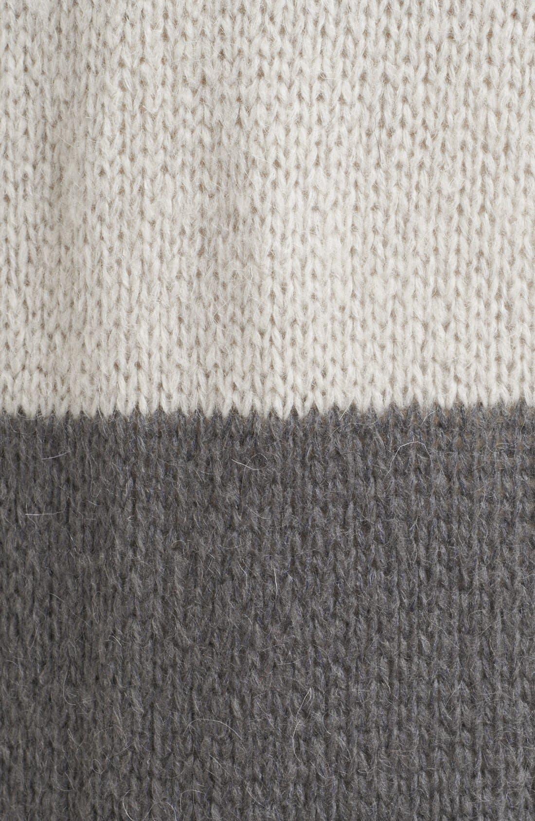 FREE PEOPLE,                             Stripe Long Cardigan,                             Alternate thumbnail 2, color,                             110