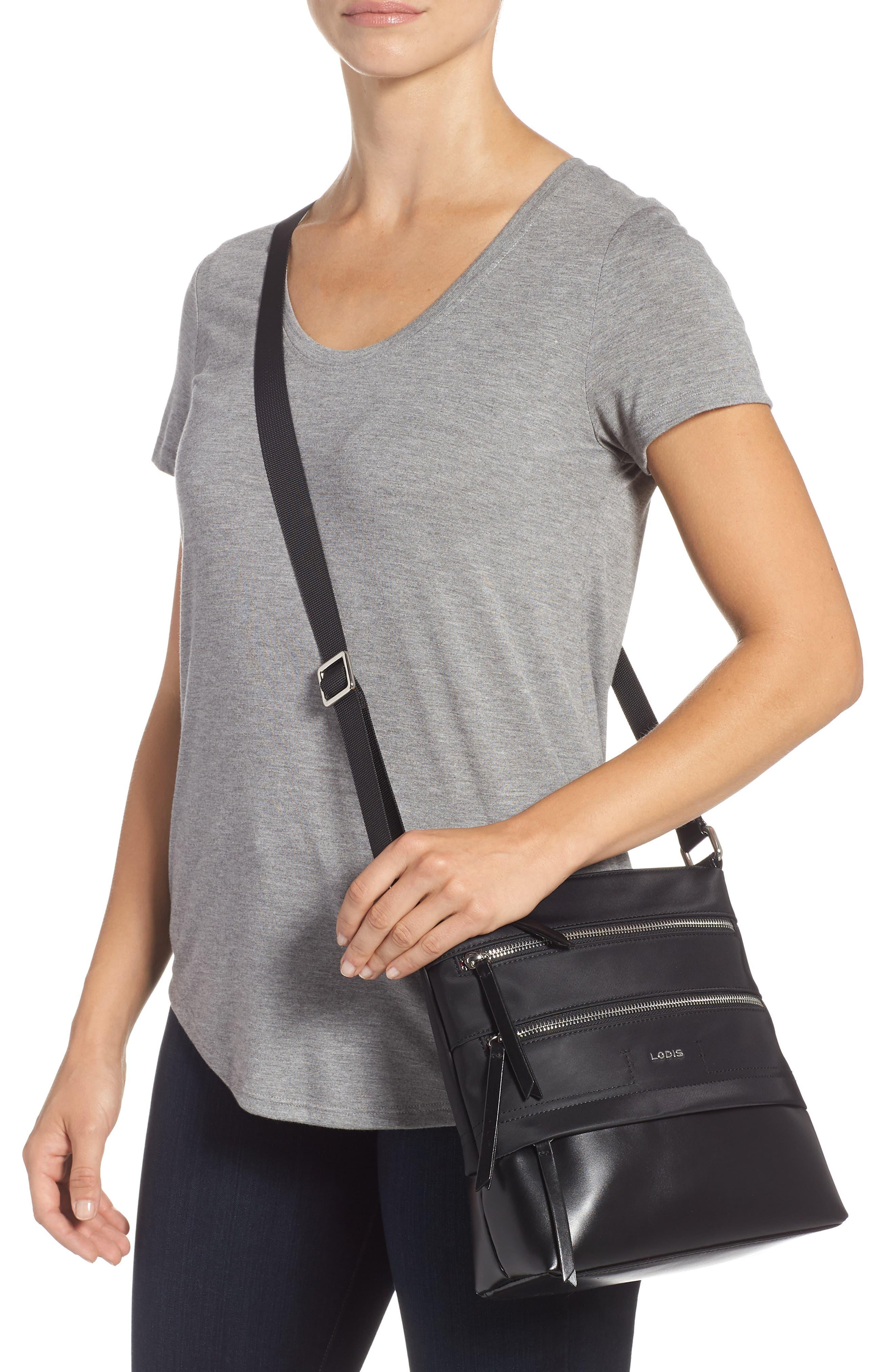 Wanda Nylon Sport RFID Travel Crossbody Bag,                             Alternate thumbnail 2, color,                             BLACK