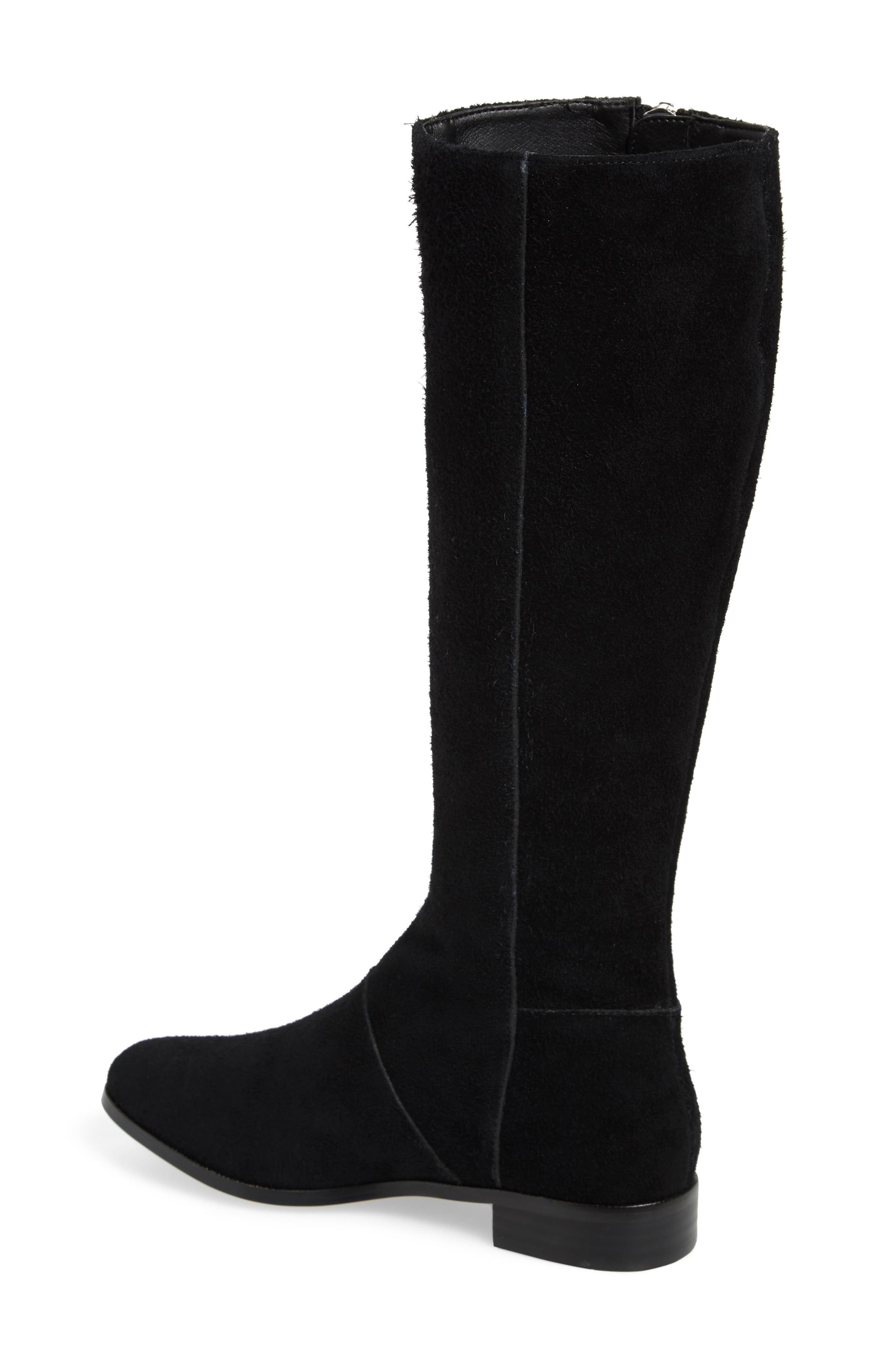M4D3,                             Ramsey Knee High Boot,                             Alternate thumbnail 2, color,                             BLACK SUEDE