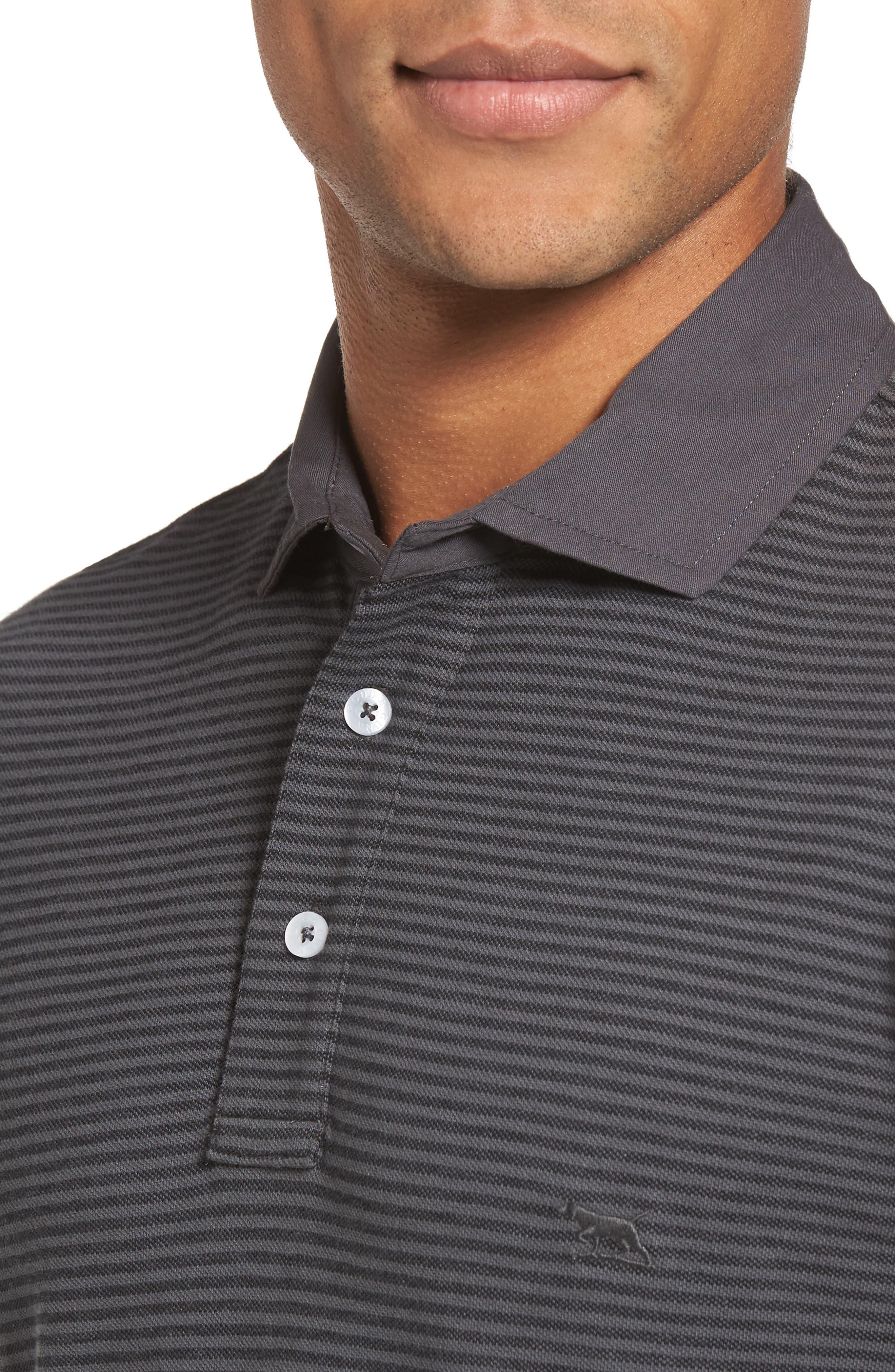 Lendenfield Sports Fit Stripe Piqué Polo,                             Alternate thumbnail 4, color,                             023