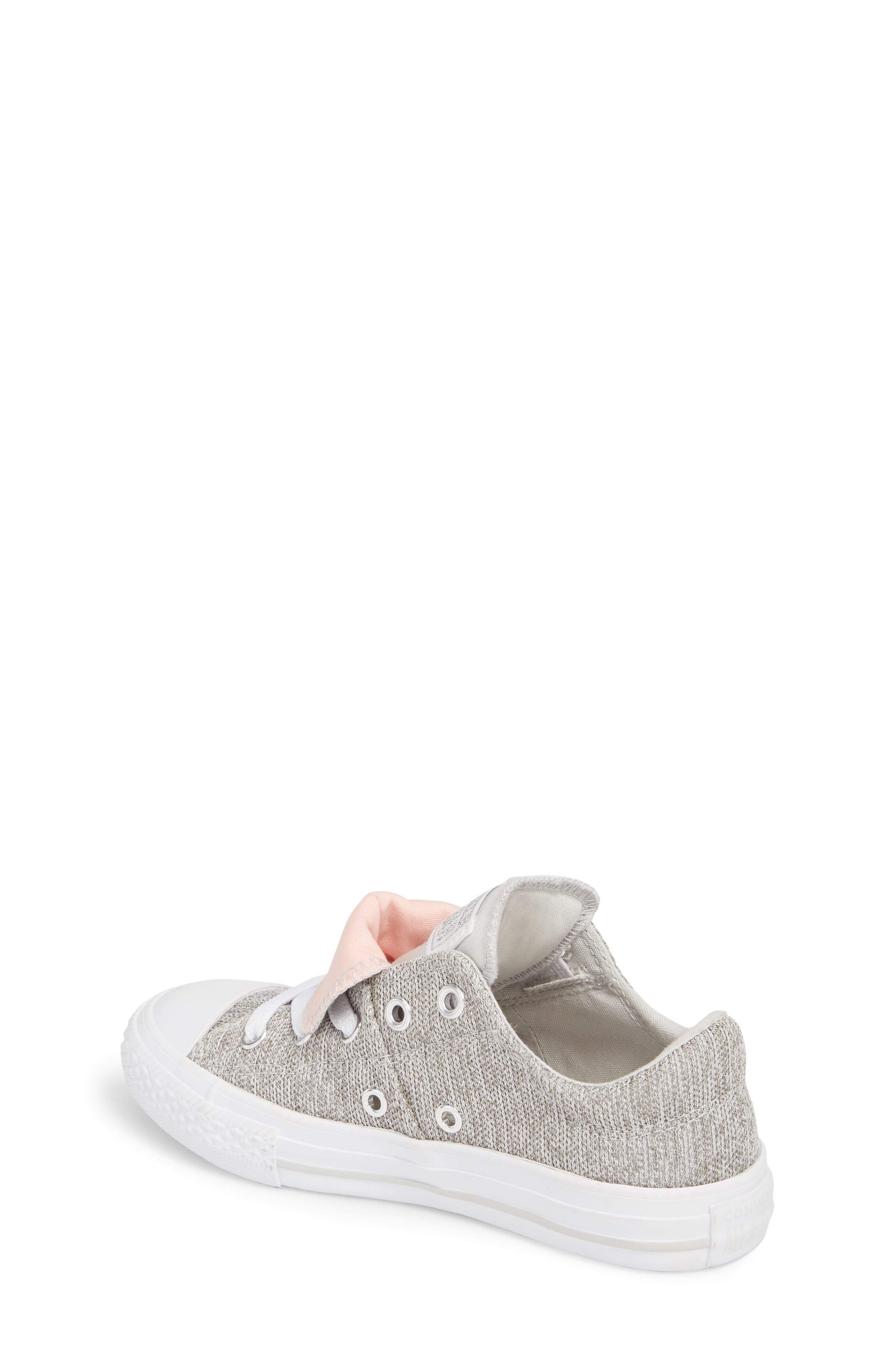 Chuck Taylor<sup>®</sup> All Star<sup>®</sup> Maddie Double Tongue Sneaker,                             Alternate thumbnail 2, color,                             LIGHT GREY
