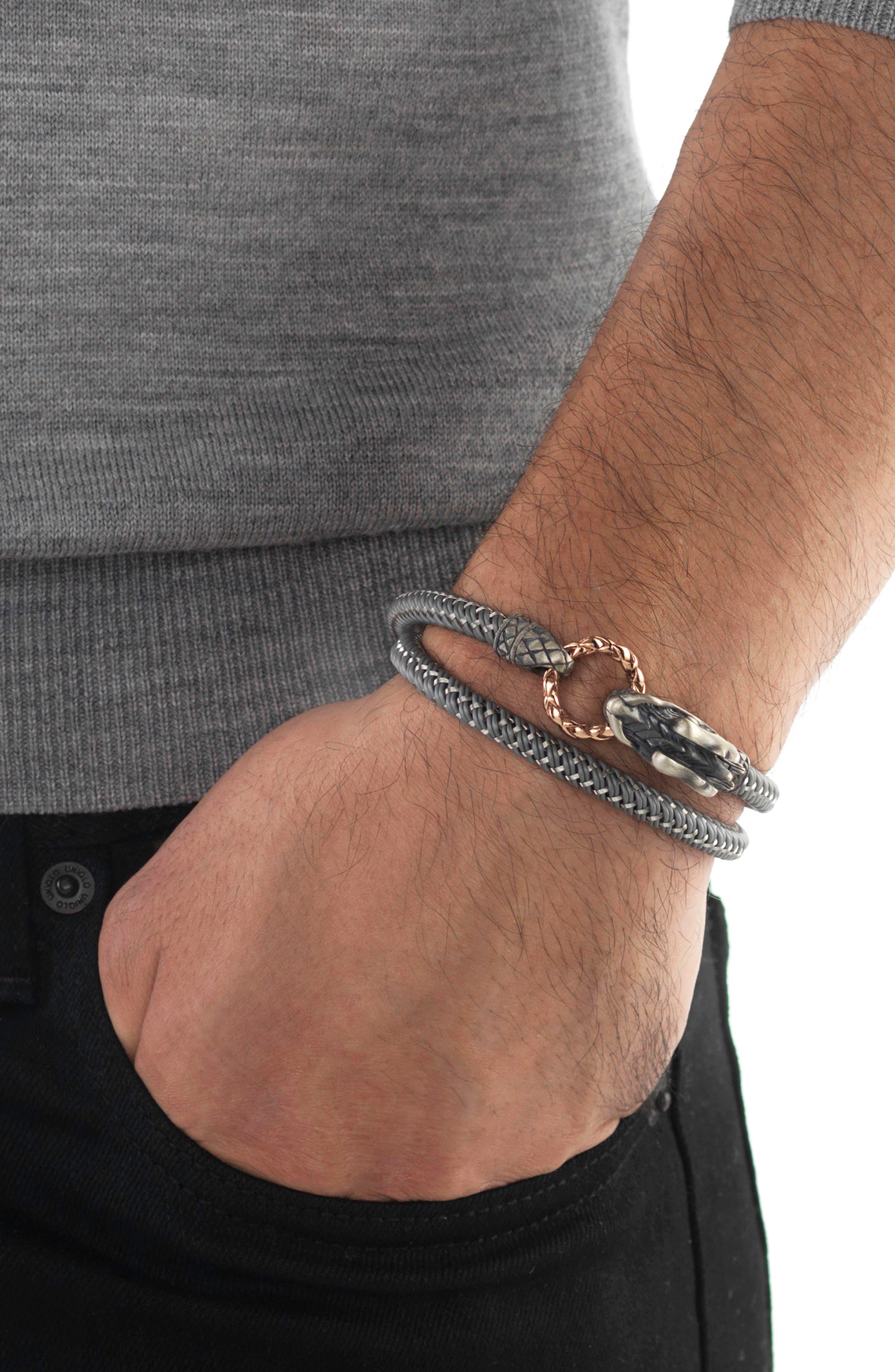 Legends Naga Double Wrap Bracelet,                             Alternate thumbnail 2, color,                             040