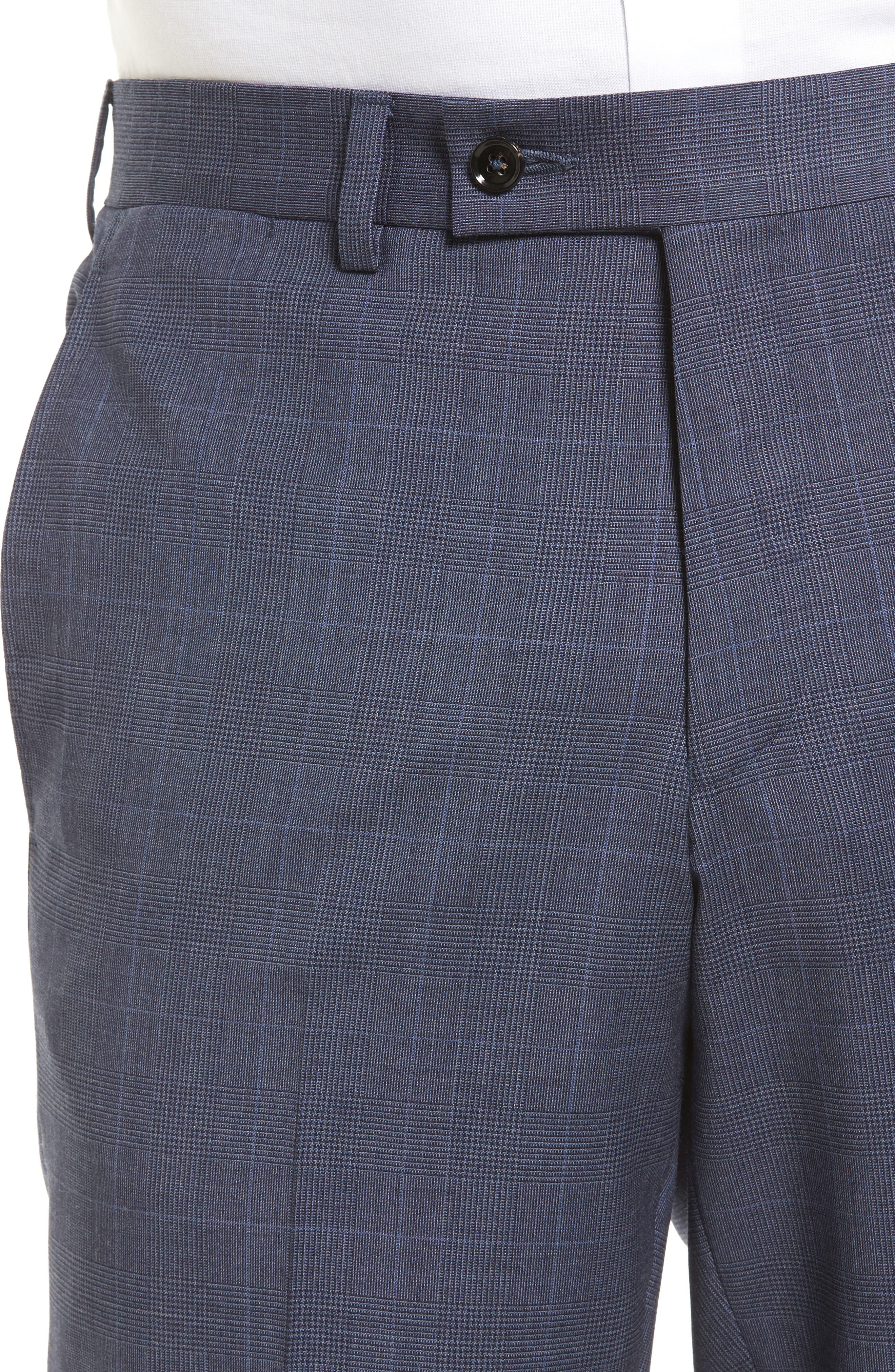 Jefferson Flat Front Wool Trousers,                             Alternate thumbnail 4, color,                             400