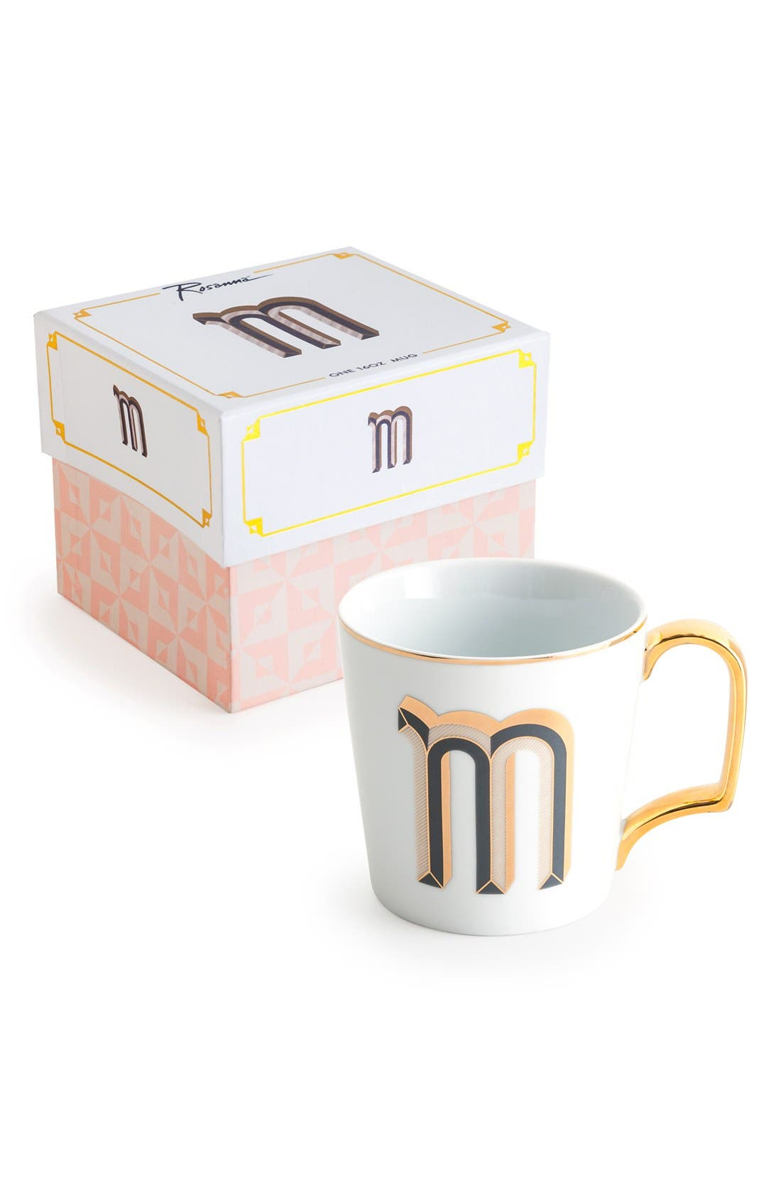 Monogram Porcelain Coffee Mug,                             Main thumbnail 11, color,