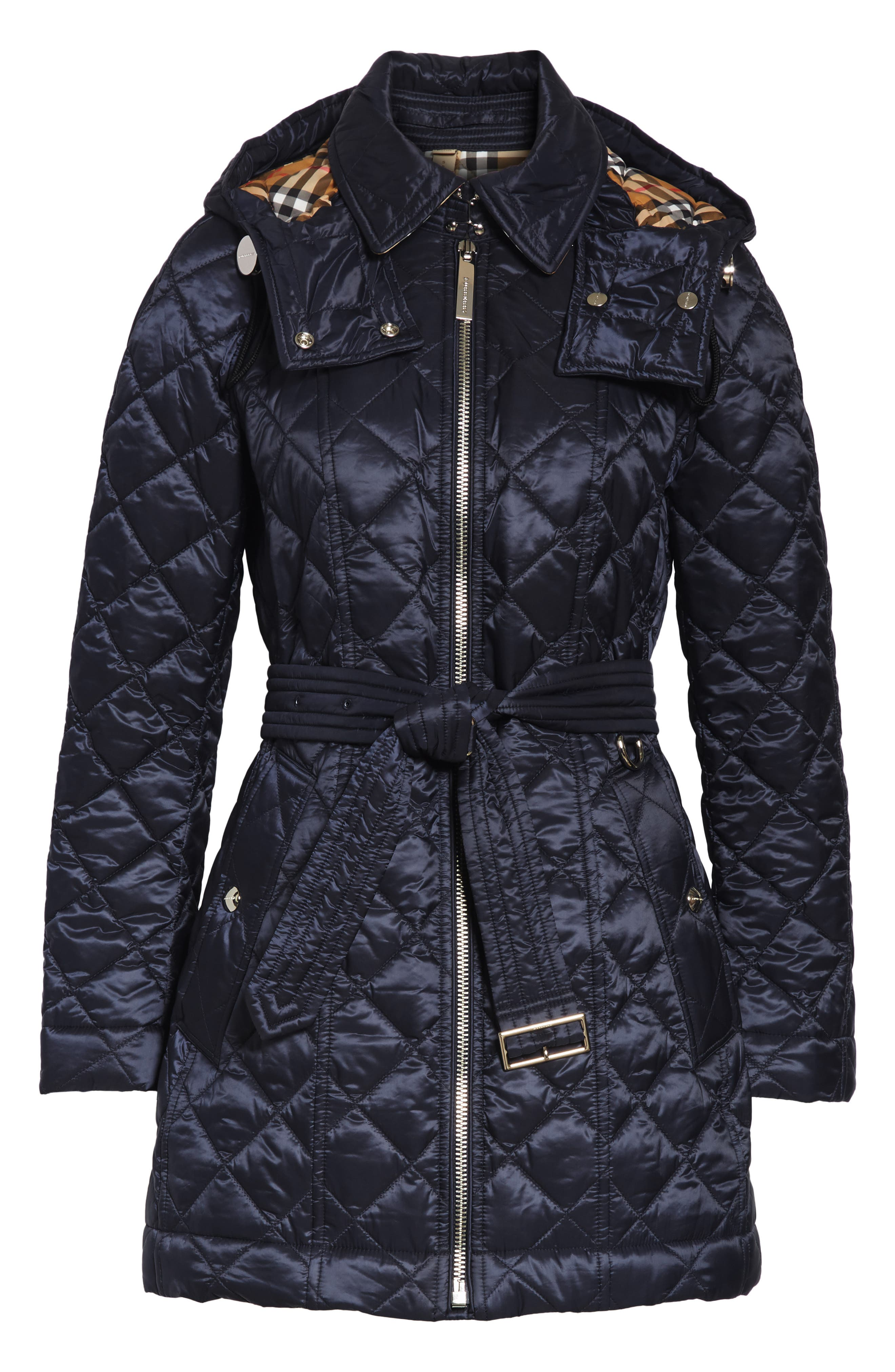 Baughton 18 Quilted Coat,                             Alternate thumbnail 5, color,                             INK