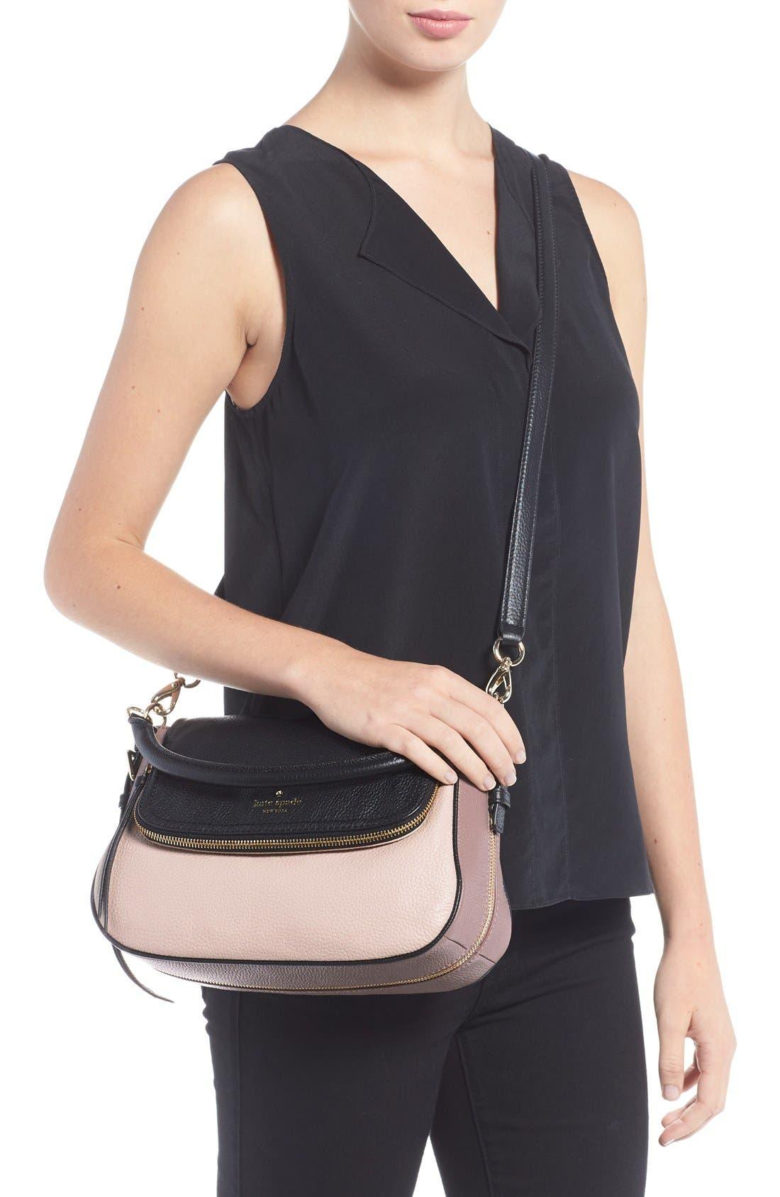 cobble hill - deva leather crossbody bag,                             Alternate thumbnail 14, color,