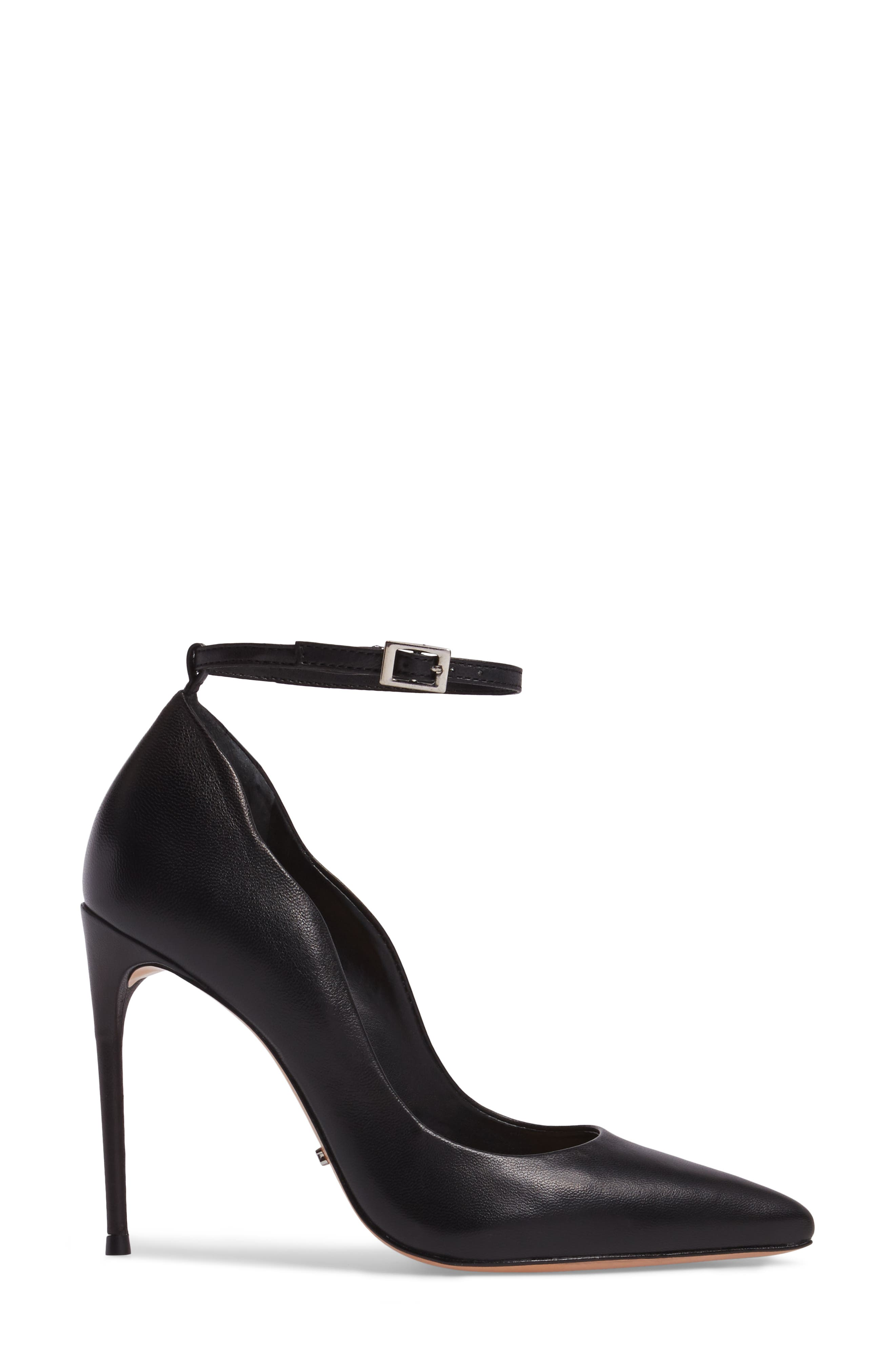 Thaynara Ankle Strap Pump,                             Alternate thumbnail 3, color,                             001