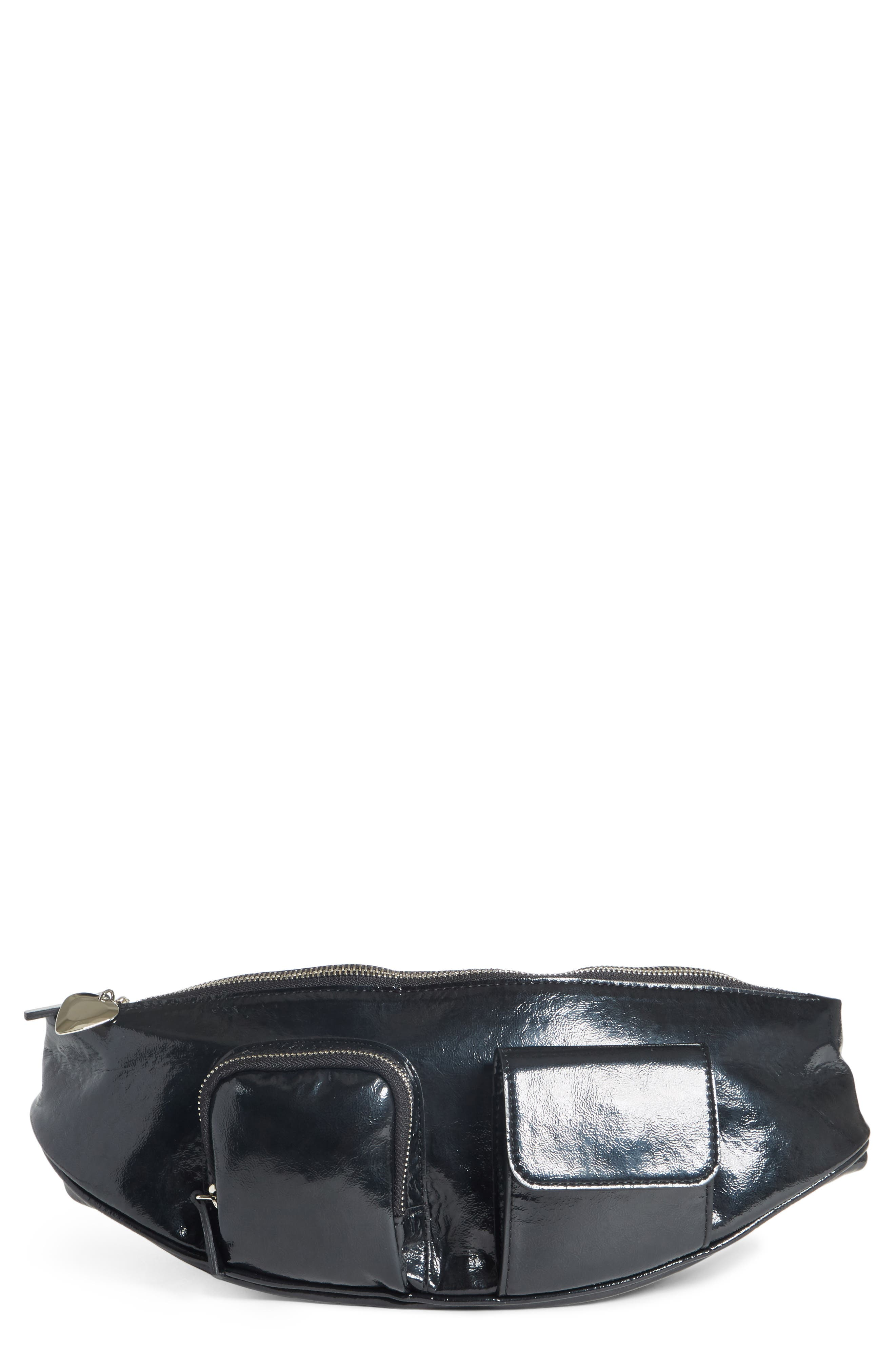 Major Convertible Belt Bag,                             Main thumbnail 1, color,                             BLACK PATENT