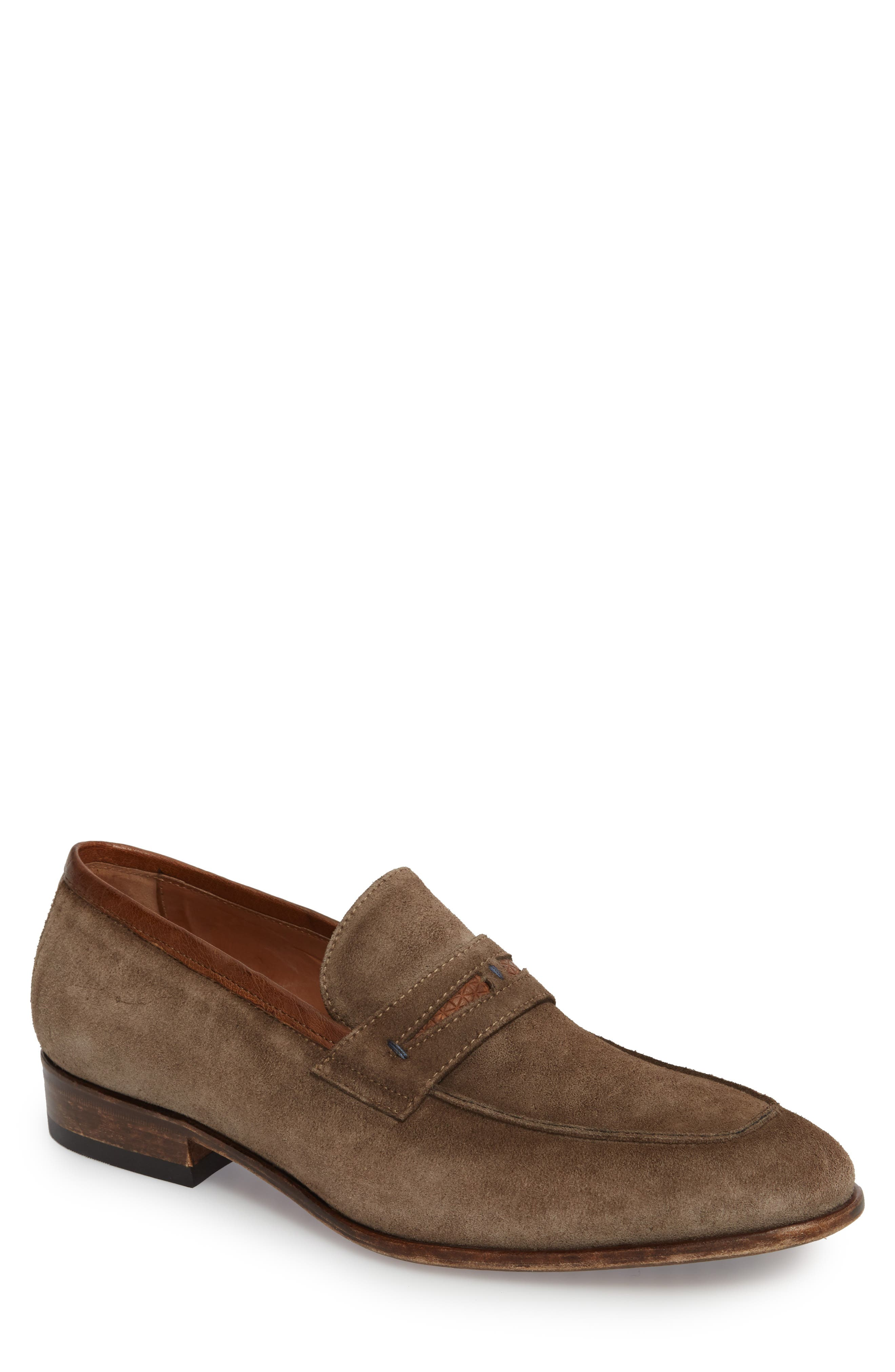 Lex Apron Toe Penny Loafer,                             Main thumbnail 1, color,