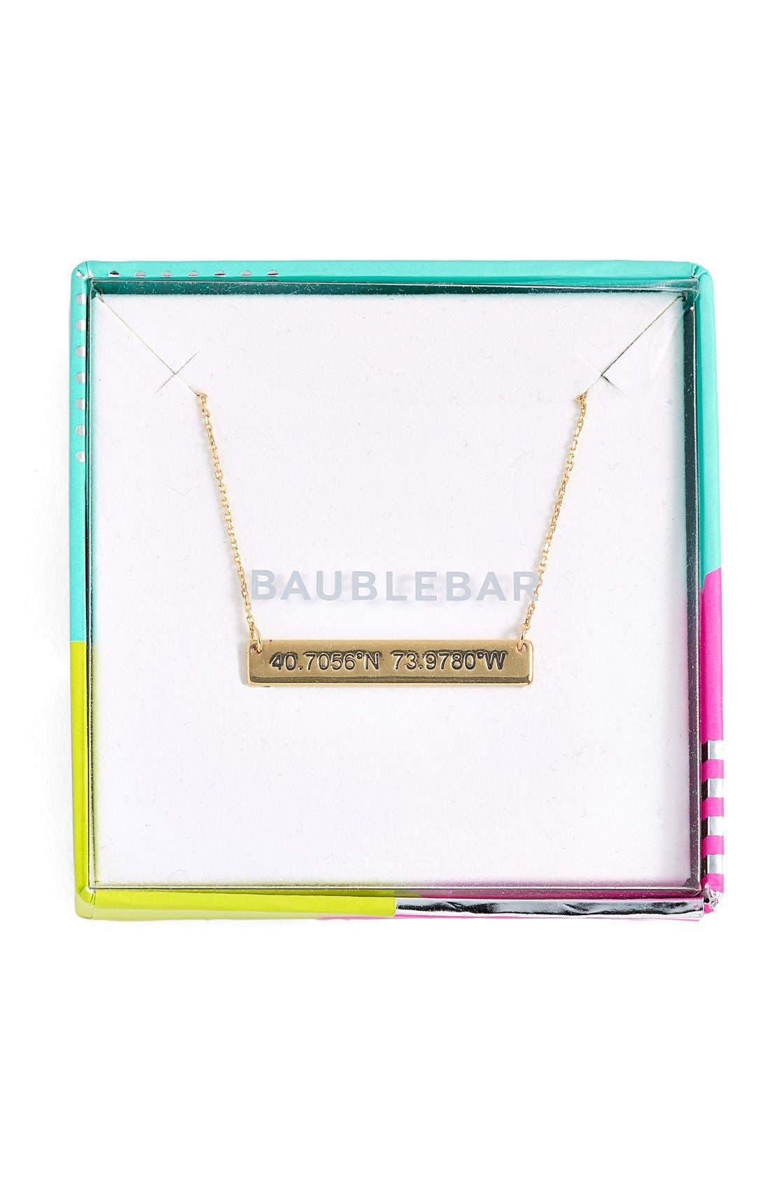 Coordinate Bar Pendant Necklace,                             Alternate thumbnail 12, color,