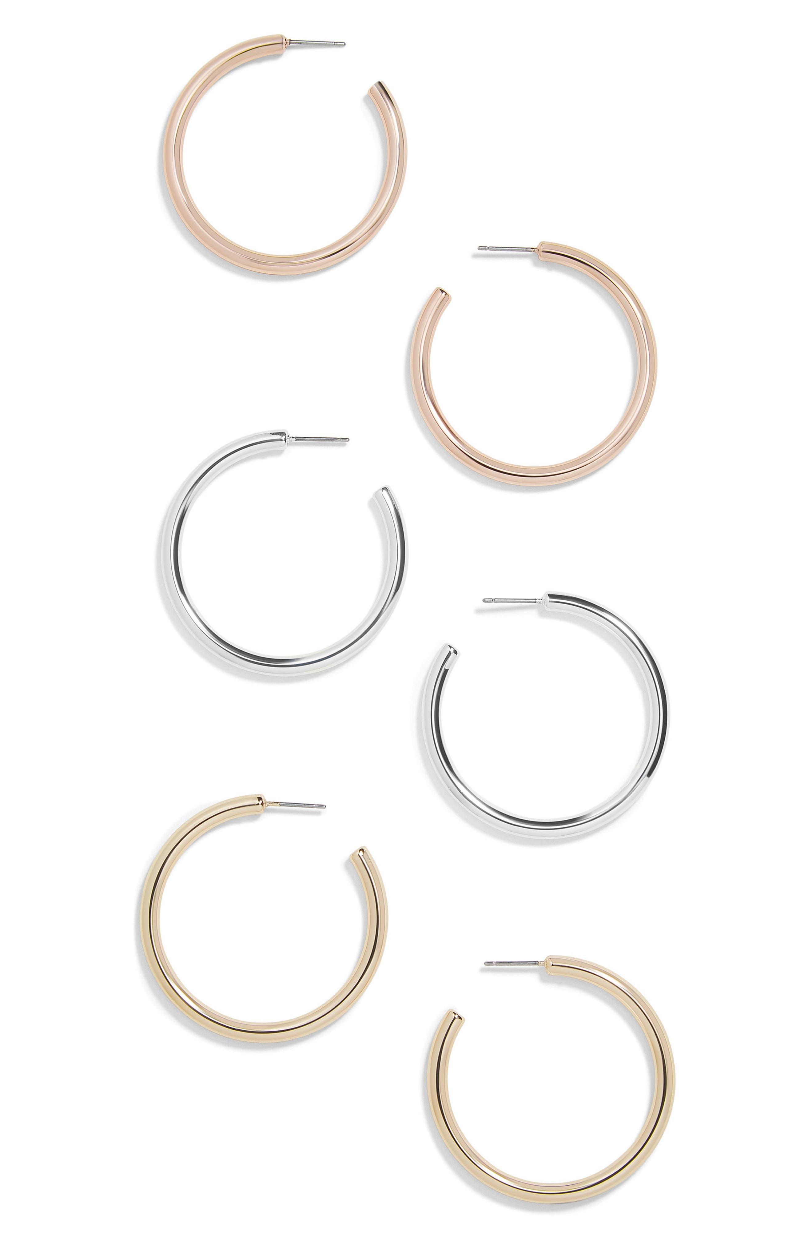 Harley Set of 3 Hoop Earrings,                             Main thumbnail 1, color,                             040