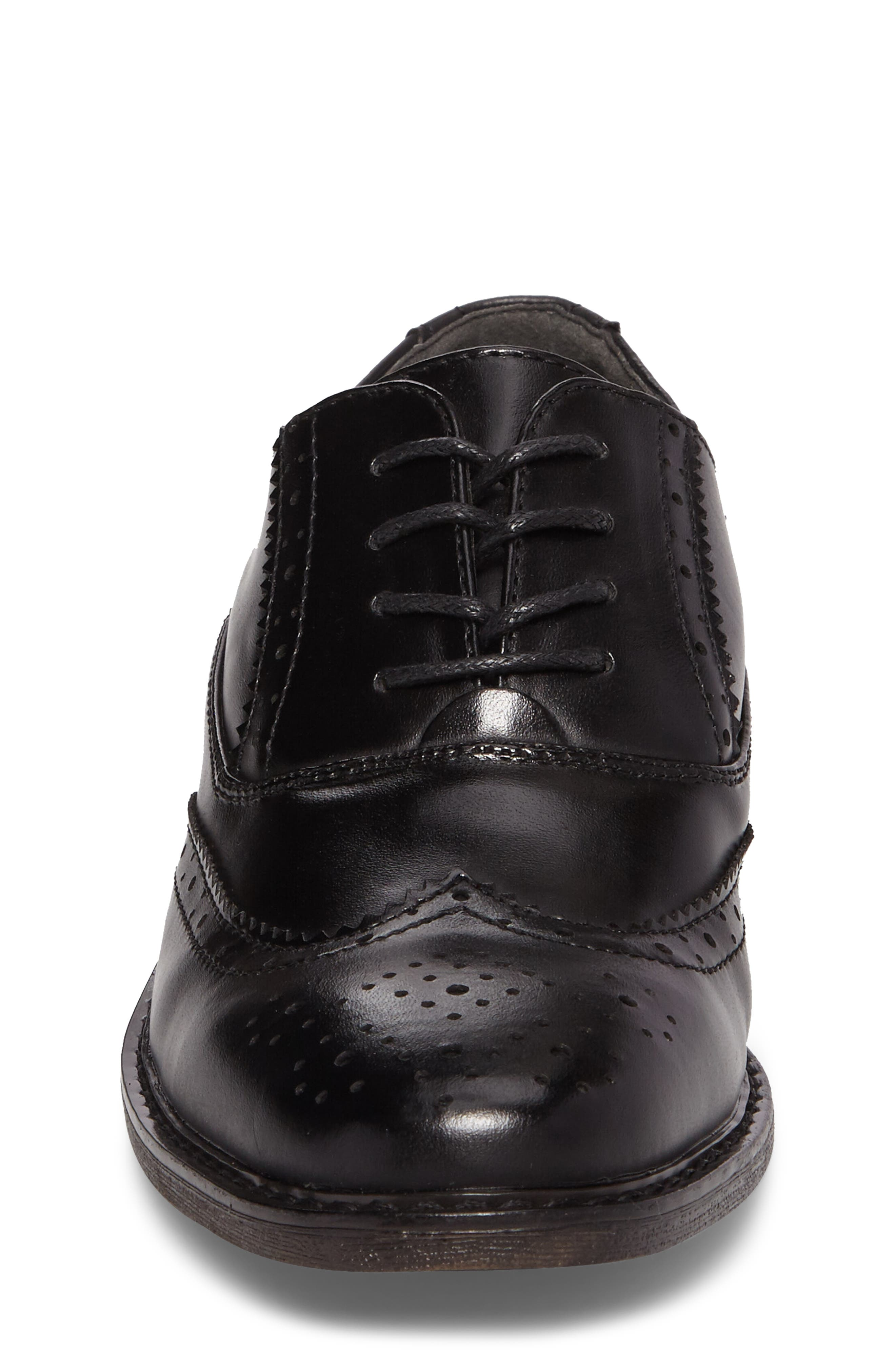 Ty Wingtip Derby,                             Alternate thumbnail 4, color,                             BLACK