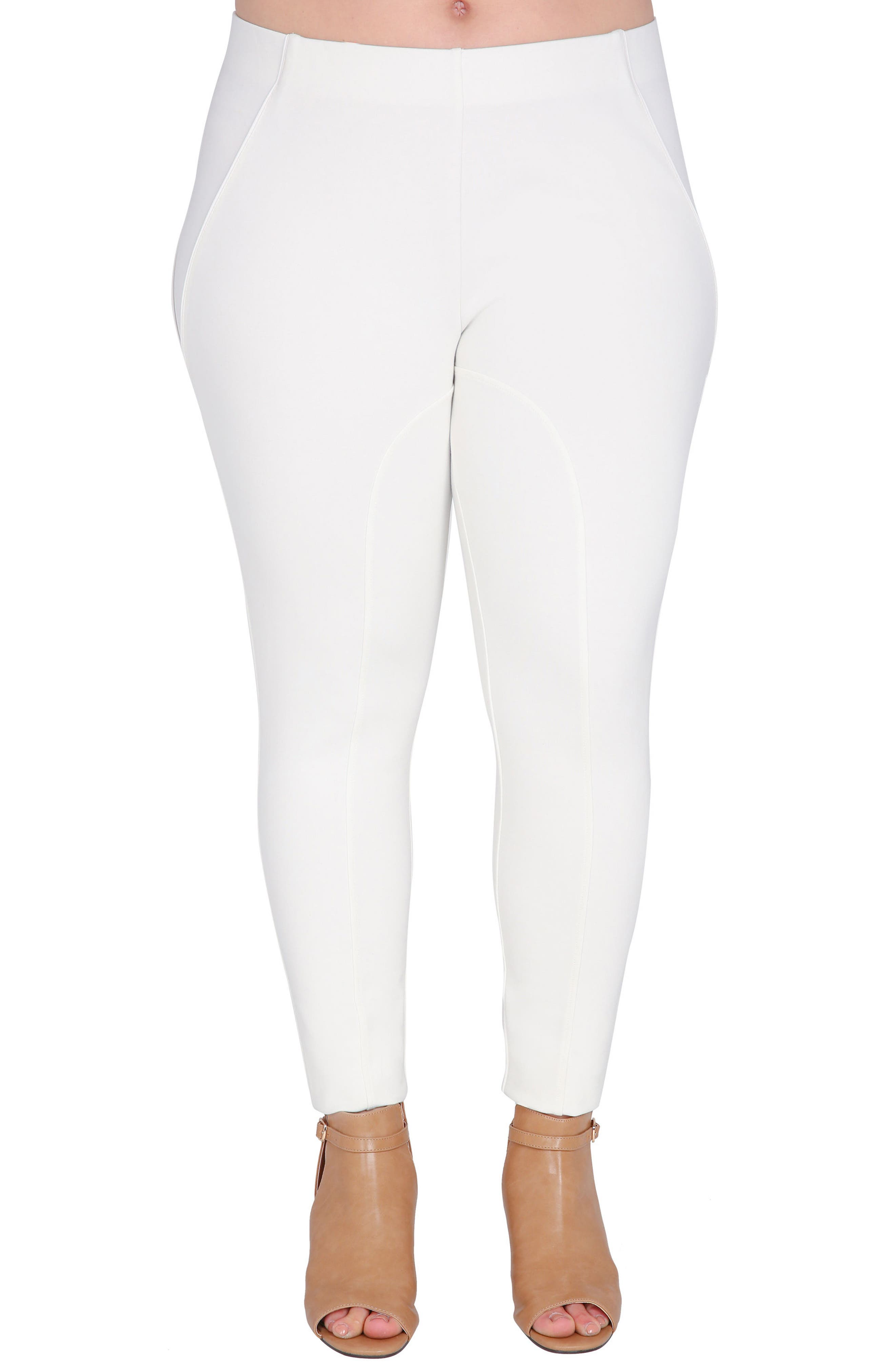 Belinda High Waist Ponte Leggings,                         Main,                         color, WHITE