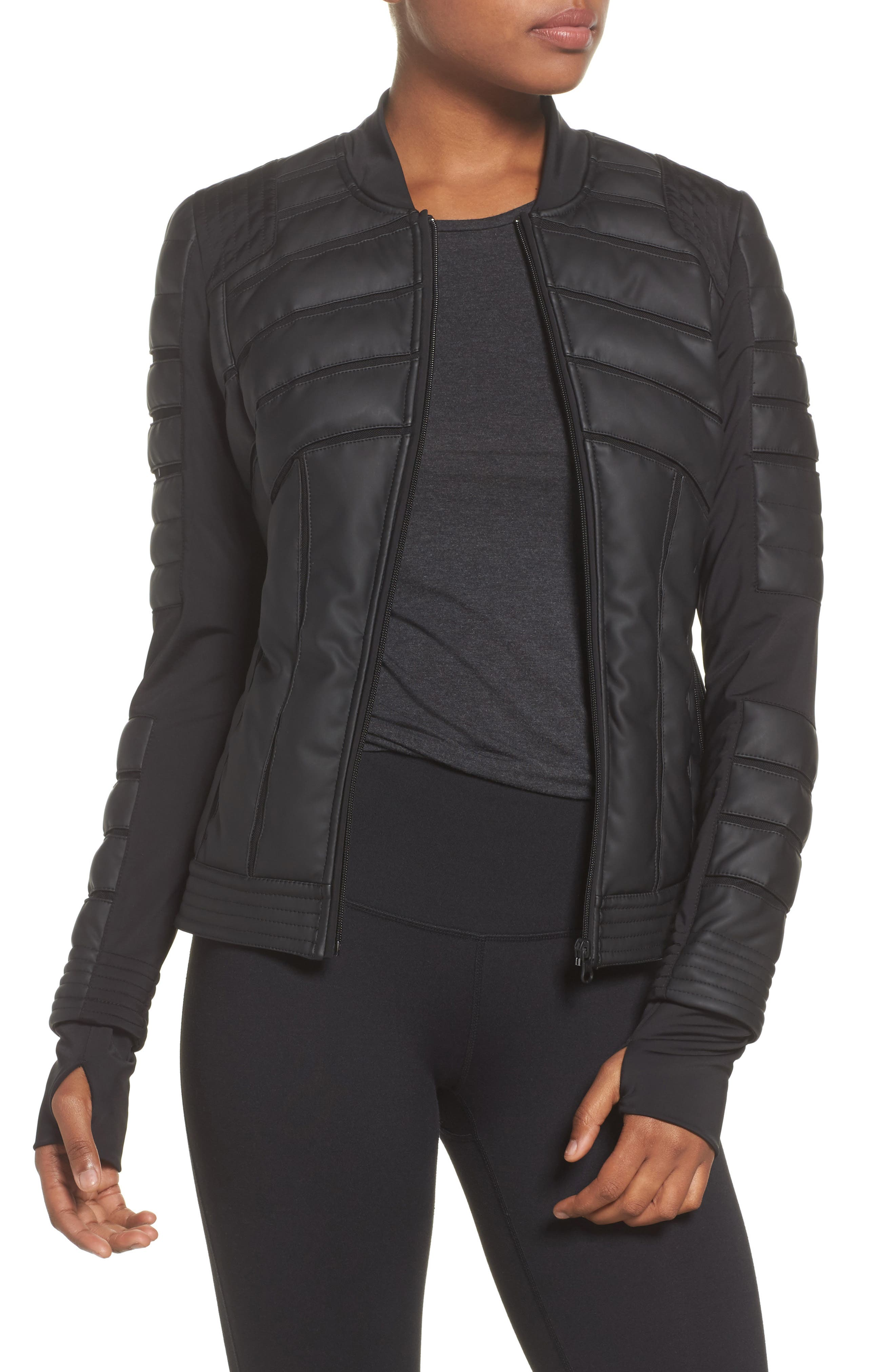Mesh Inset Bomber Jacket,                         Main,                         color, 001