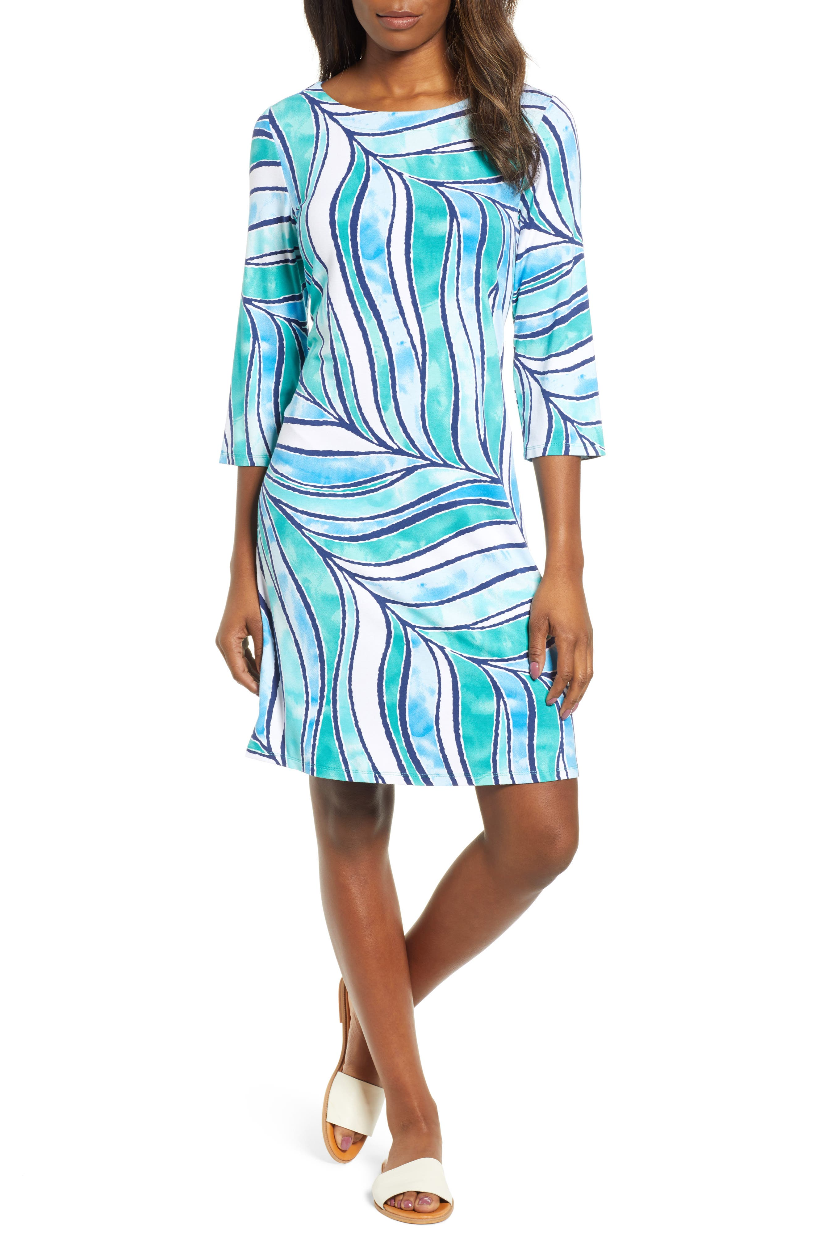 Tommy Bahama Batiki Tiki Shift Dress, Green