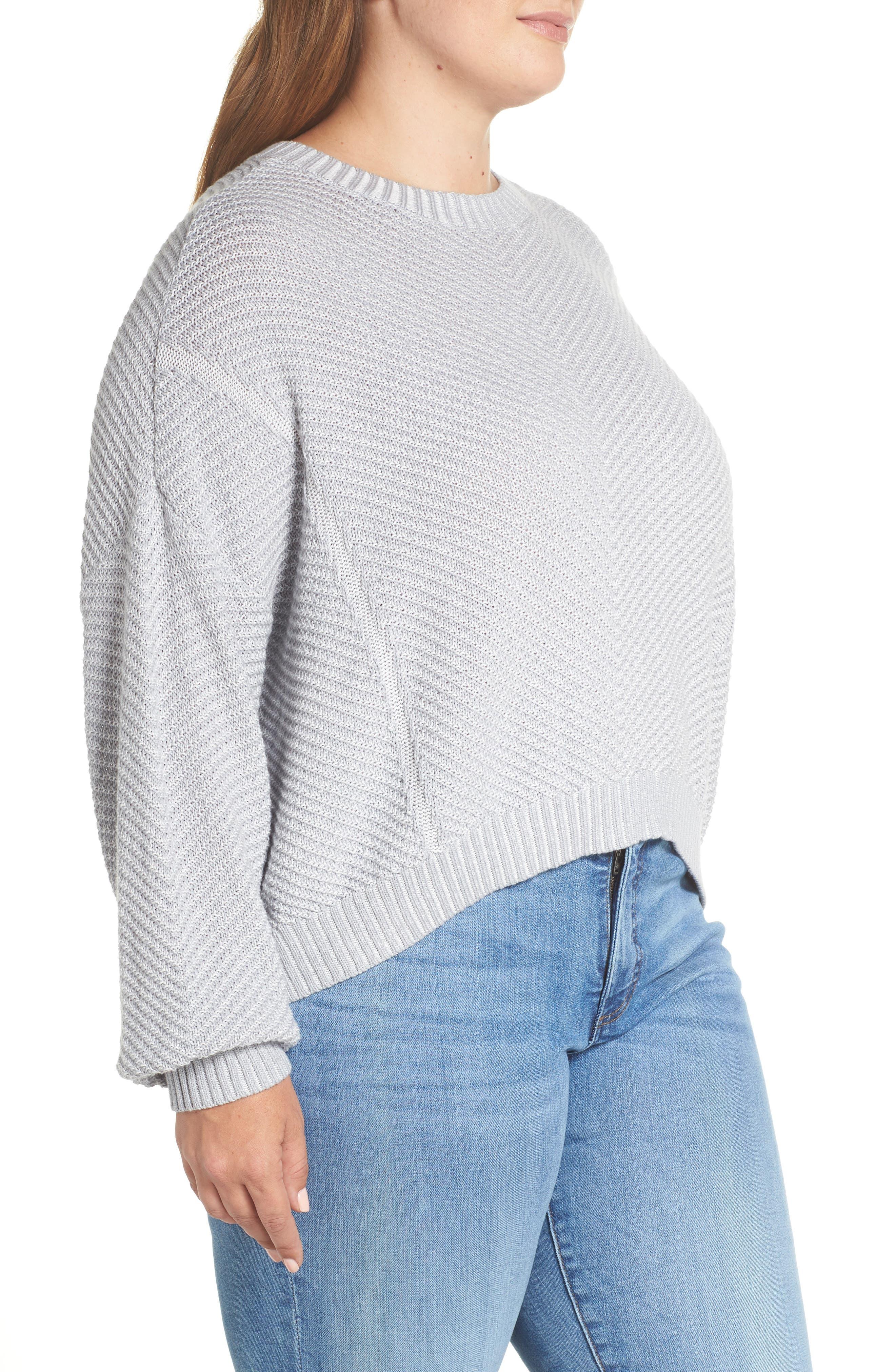 Plaited Drop Shoulder Sweater,                             Alternate thumbnail 9, color,                             050