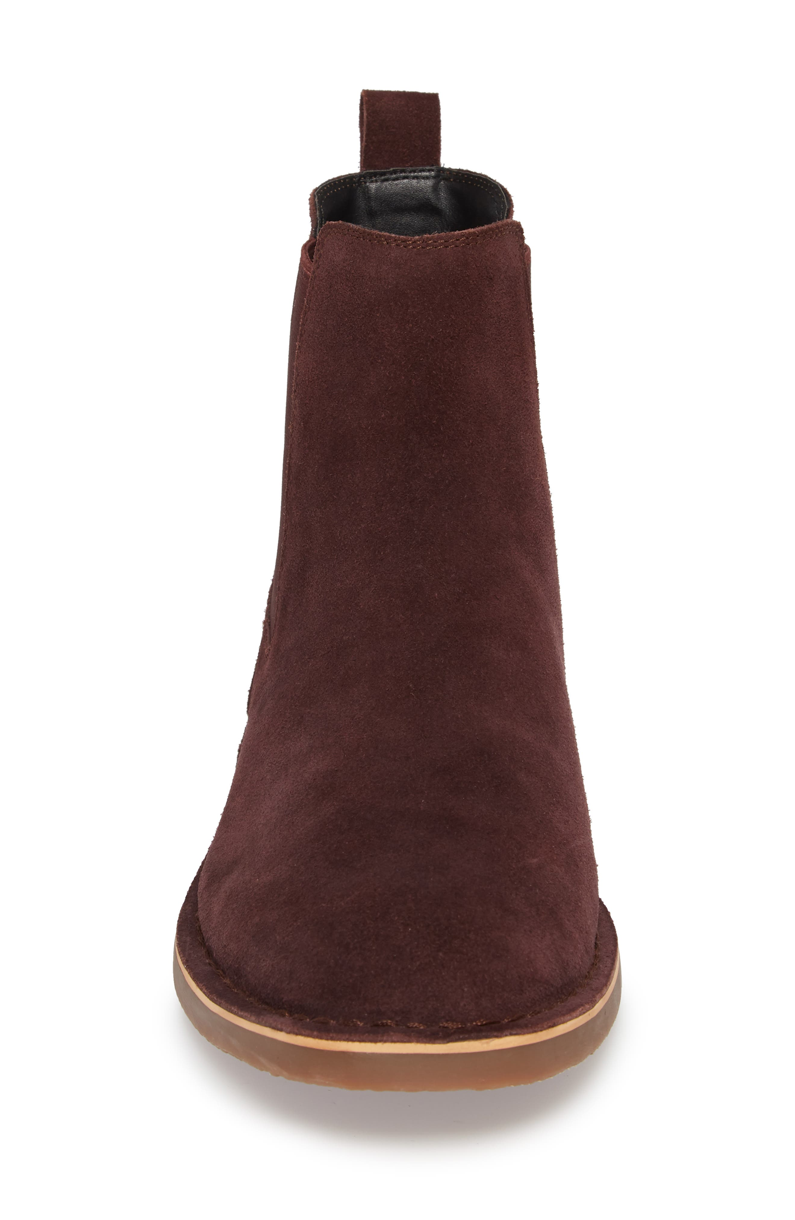 Mesa Chelsea Boot,                             Alternate thumbnail 4, color,                             BURGUNDY SUEDE