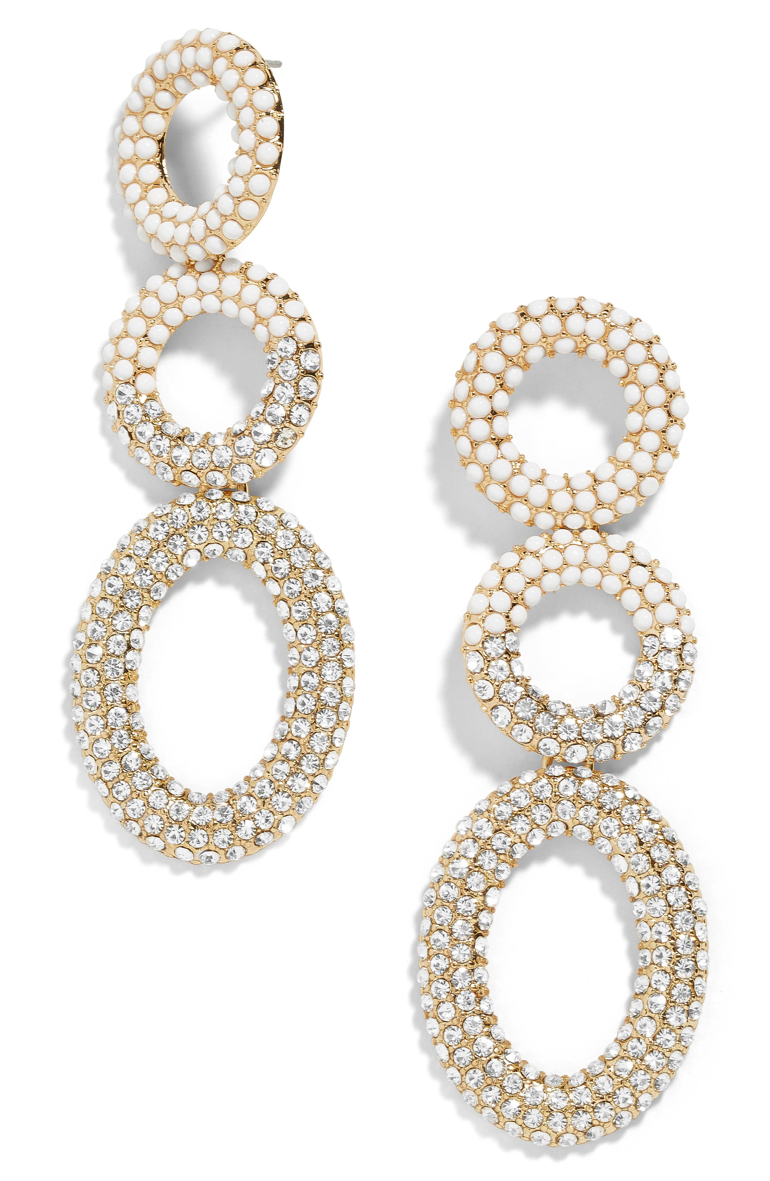 Mimi Tiered Drop Earrings,                         Main,                         color, WHITE