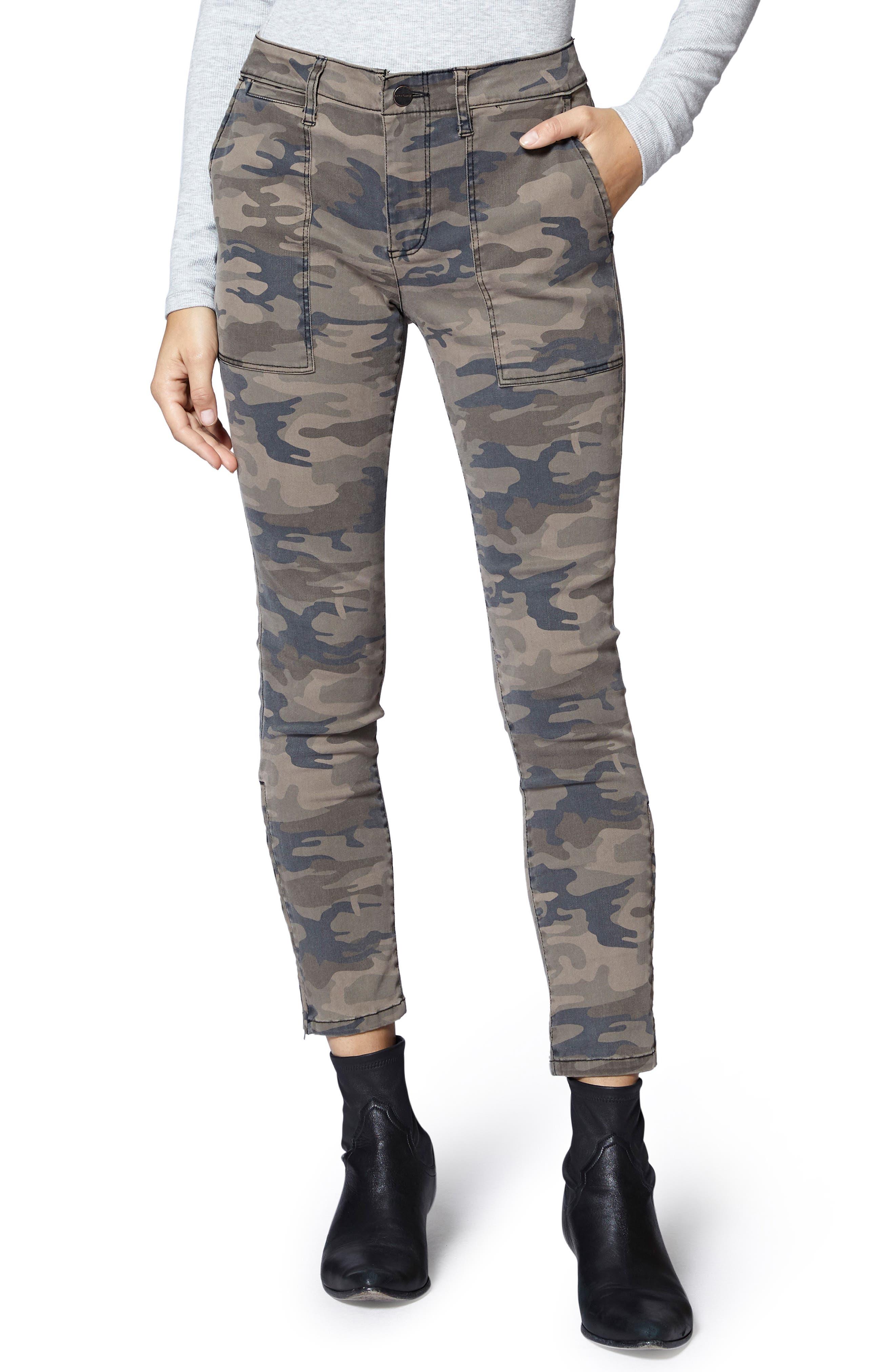 Fast Track Skinny Chino Pants,                         Main,                         color, HUMAN NATURE CAMO