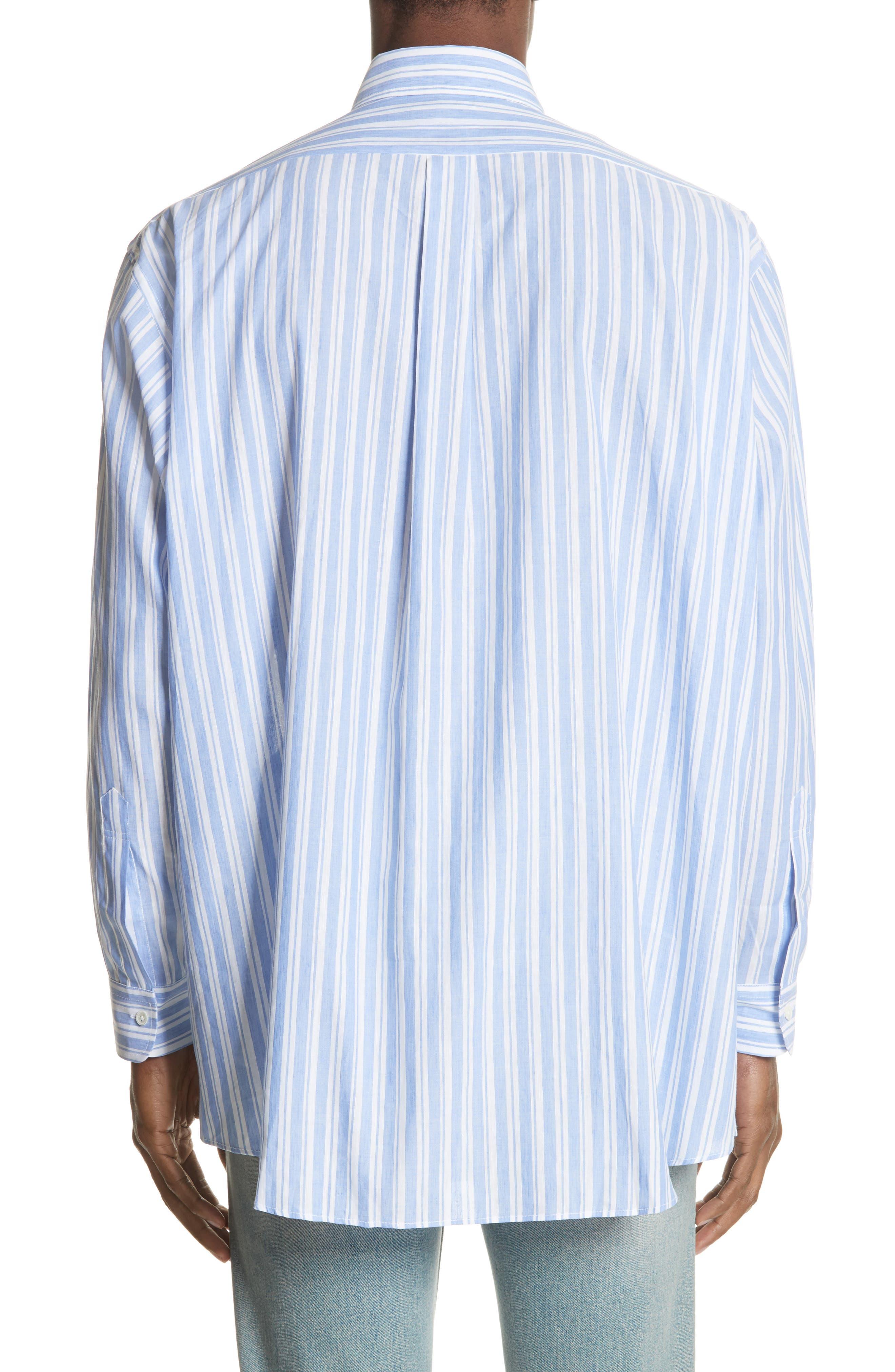 Oversized Stripe Chambray Shirt,                             Alternate thumbnail 2, color,                             460