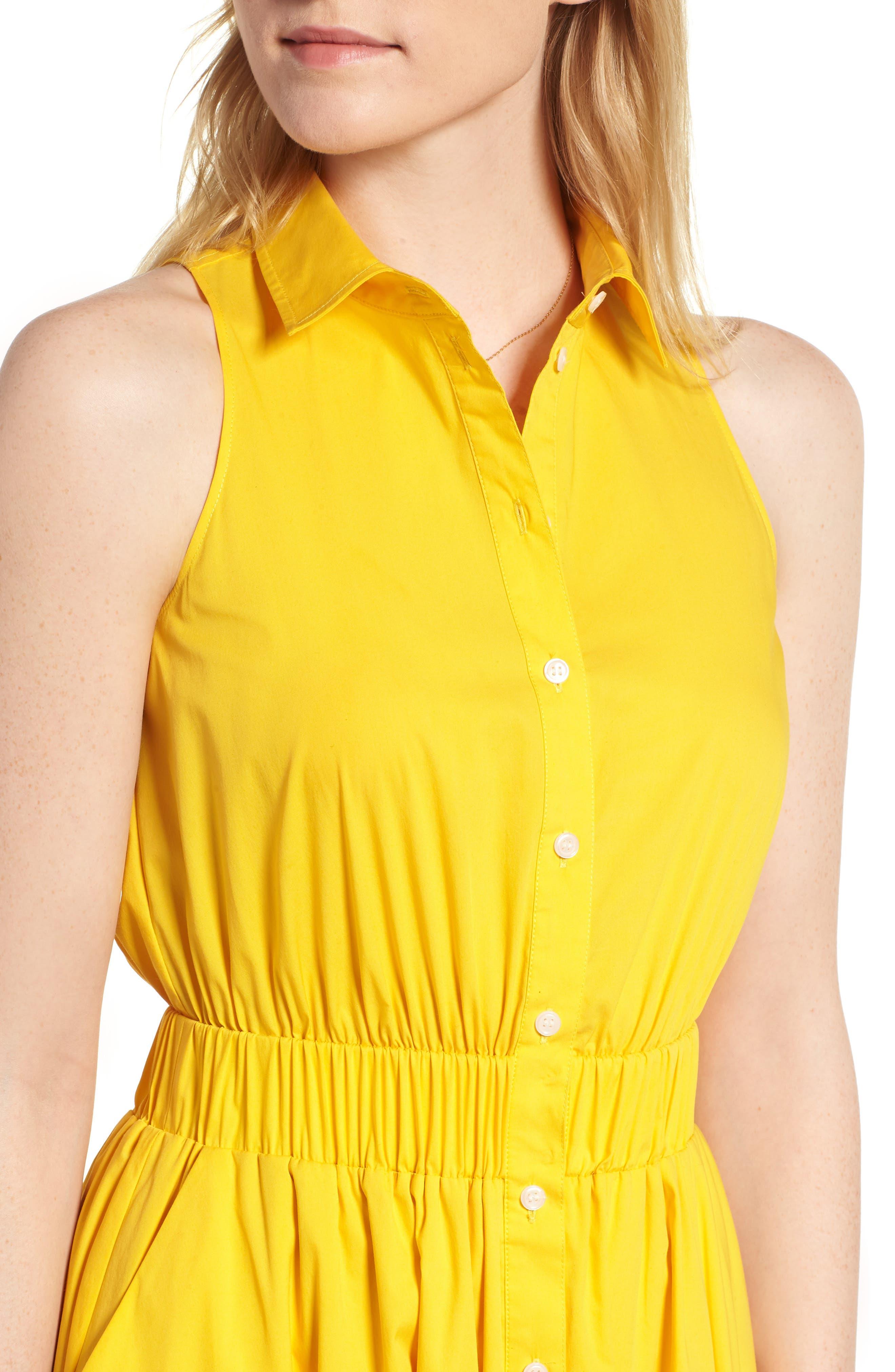 Sleeveless Shirtdress,                             Alternate thumbnail 17, color,