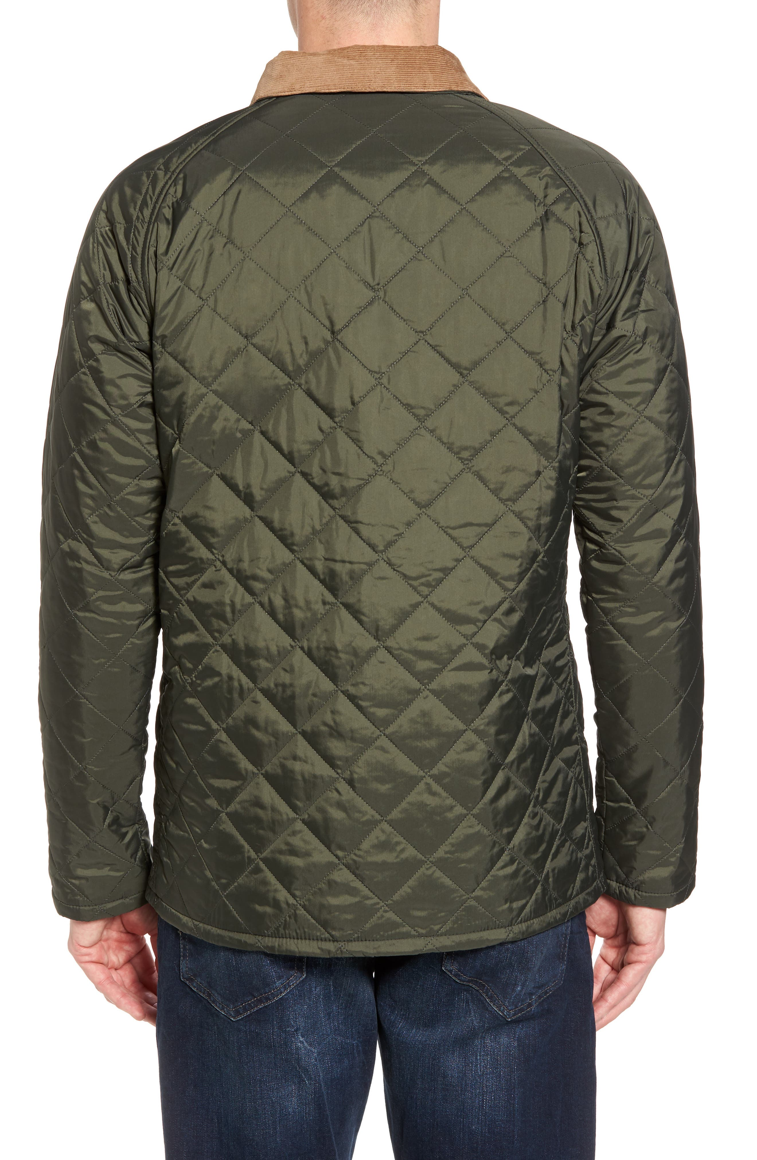 'Canterdale' Slim Fit Water-Resistant Diamond Quilted Jacket,                             Alternate thumbnail 3, color,                             305