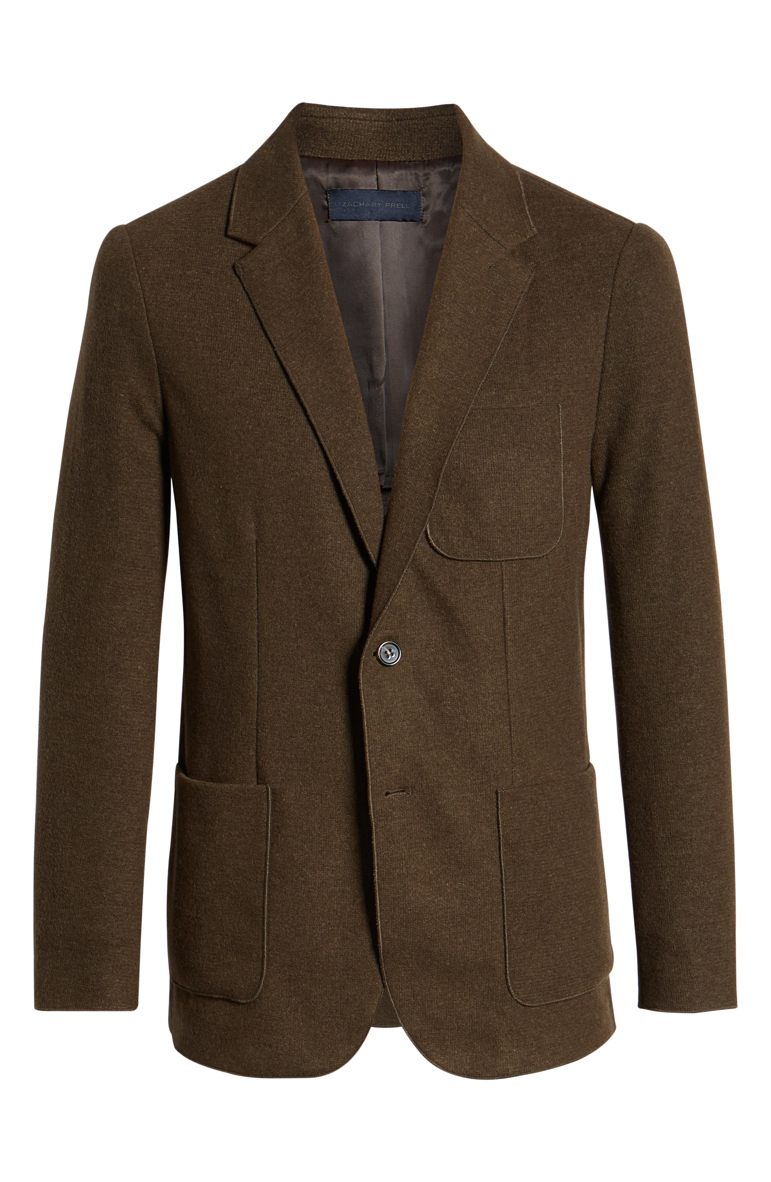 Plymouth Regular Fit Knit Sport Coat,                             Alternate thumbnail 5, color,                             BROWN