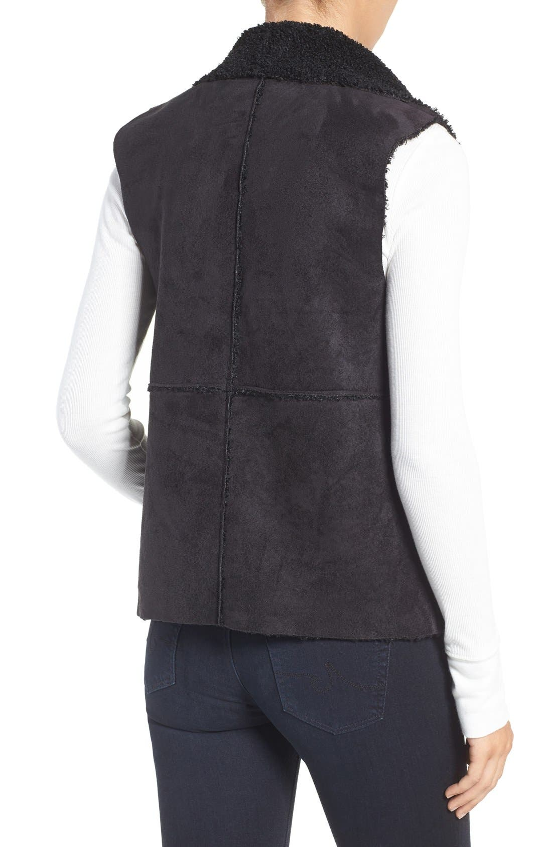 Goslett Faux Shearling Vest,                             Alternate thumbnail 2, color,                             001
