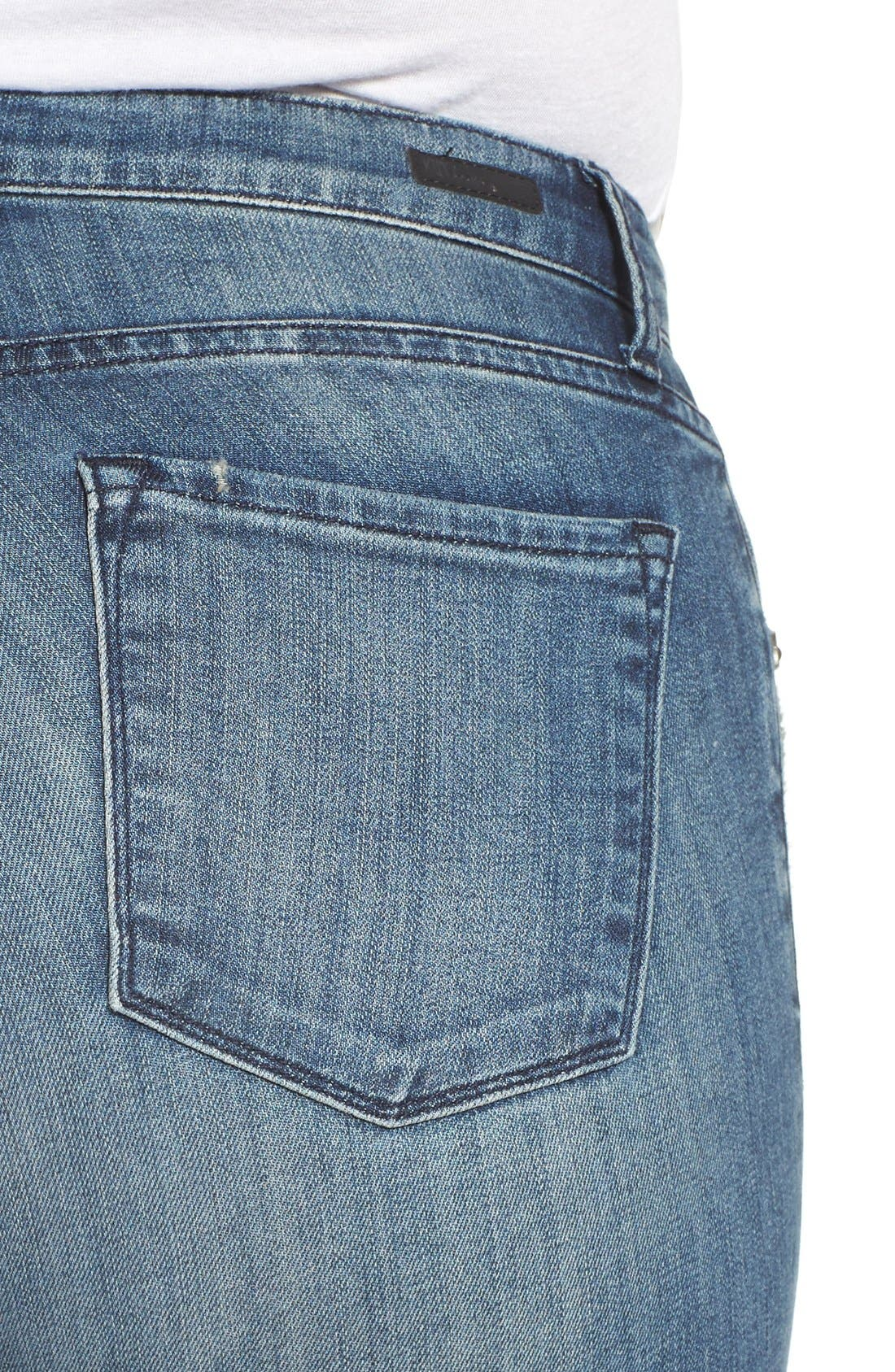 'Reese' Crop Flare Leg Jeans,                             Alternate thumbnail 2, color,                             PERFECTION