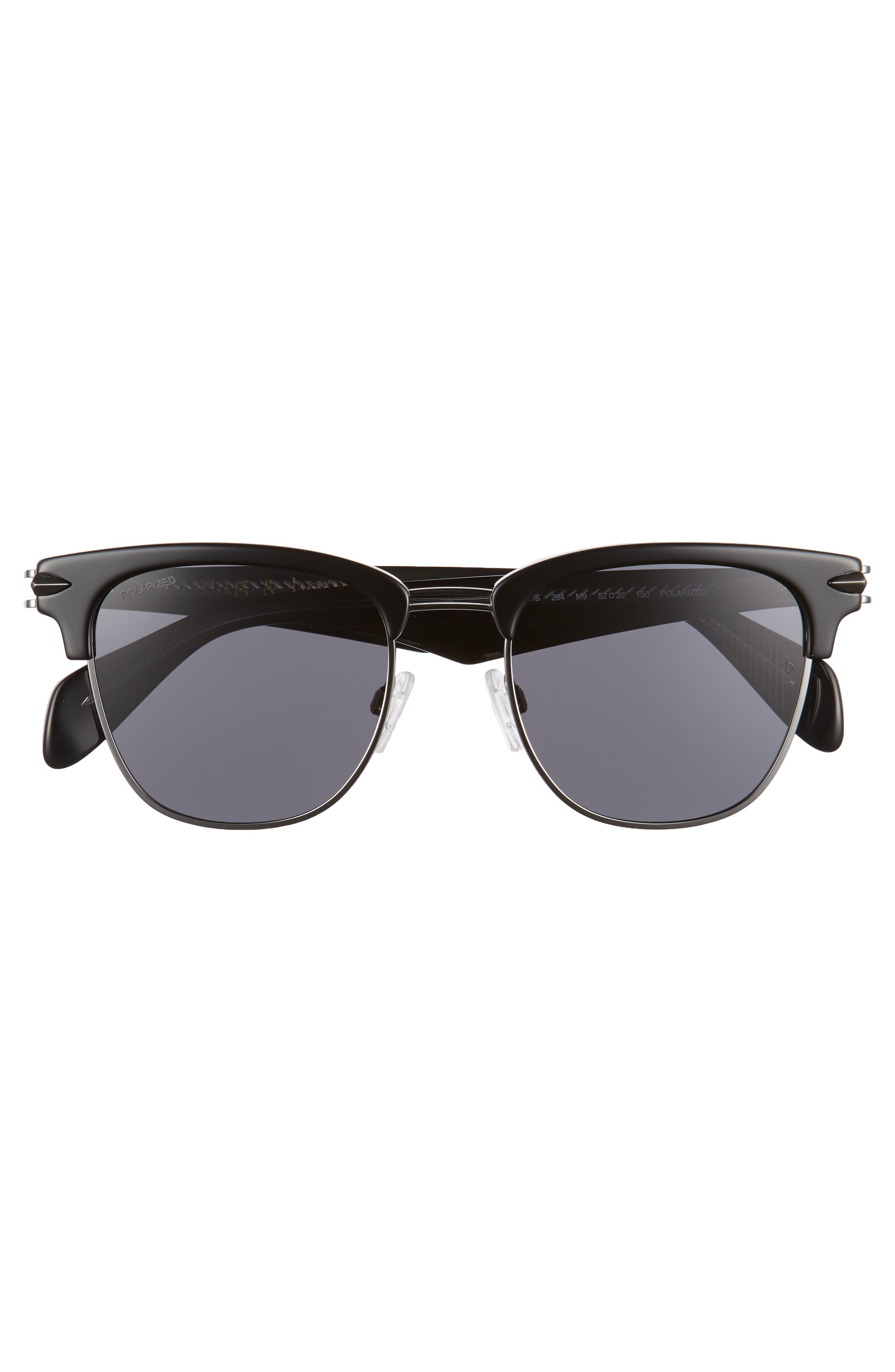 RAG & BONE,                             52mm Polarized Sunglasses,                             Alternate thumbnail 2, color,                             BLACK RUTH/ POLAR