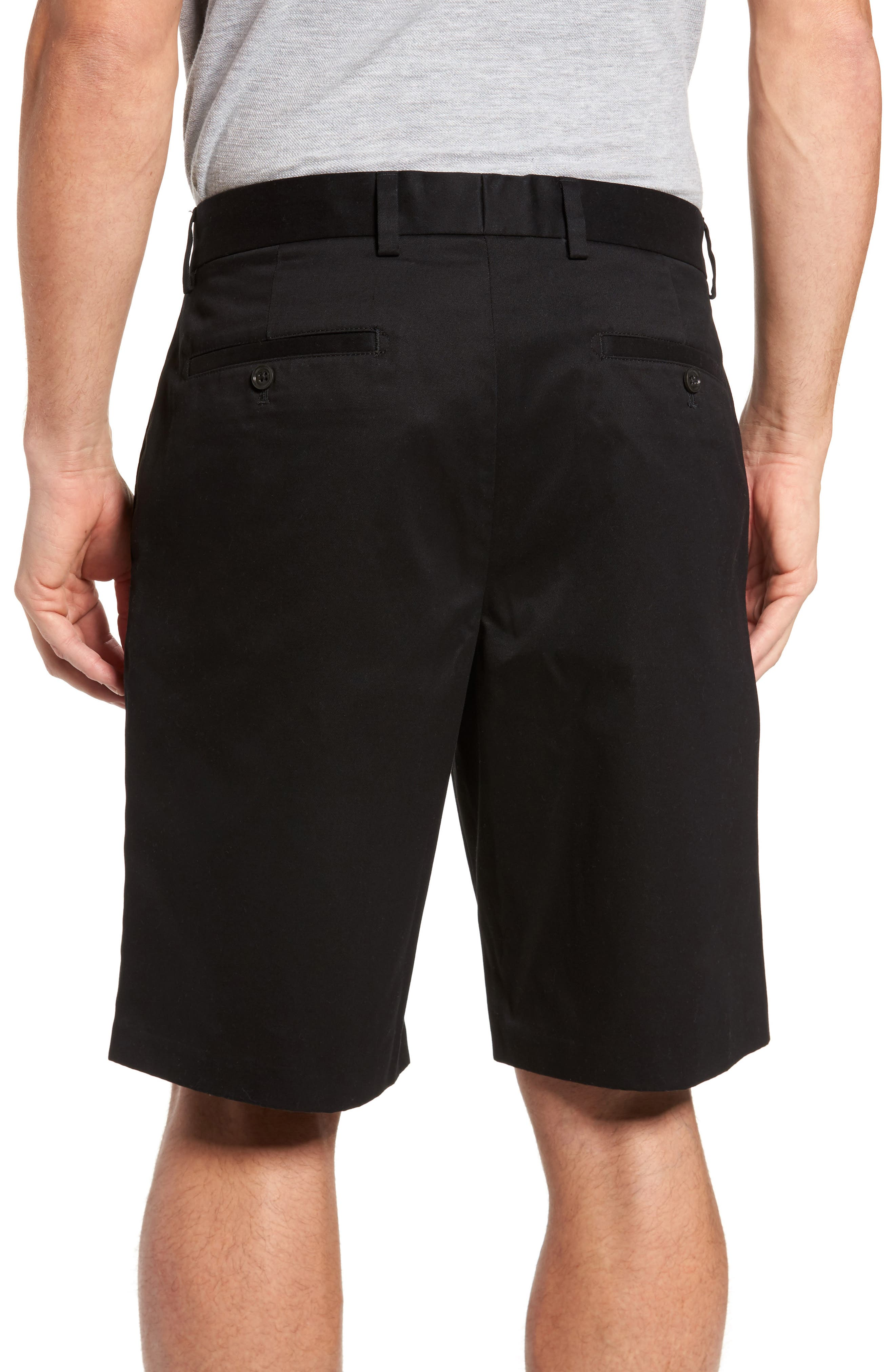 Smartcare<sup>™</sup> Flat Front Shorts,                             Alternate thumbnail 2, color,                             BLACK