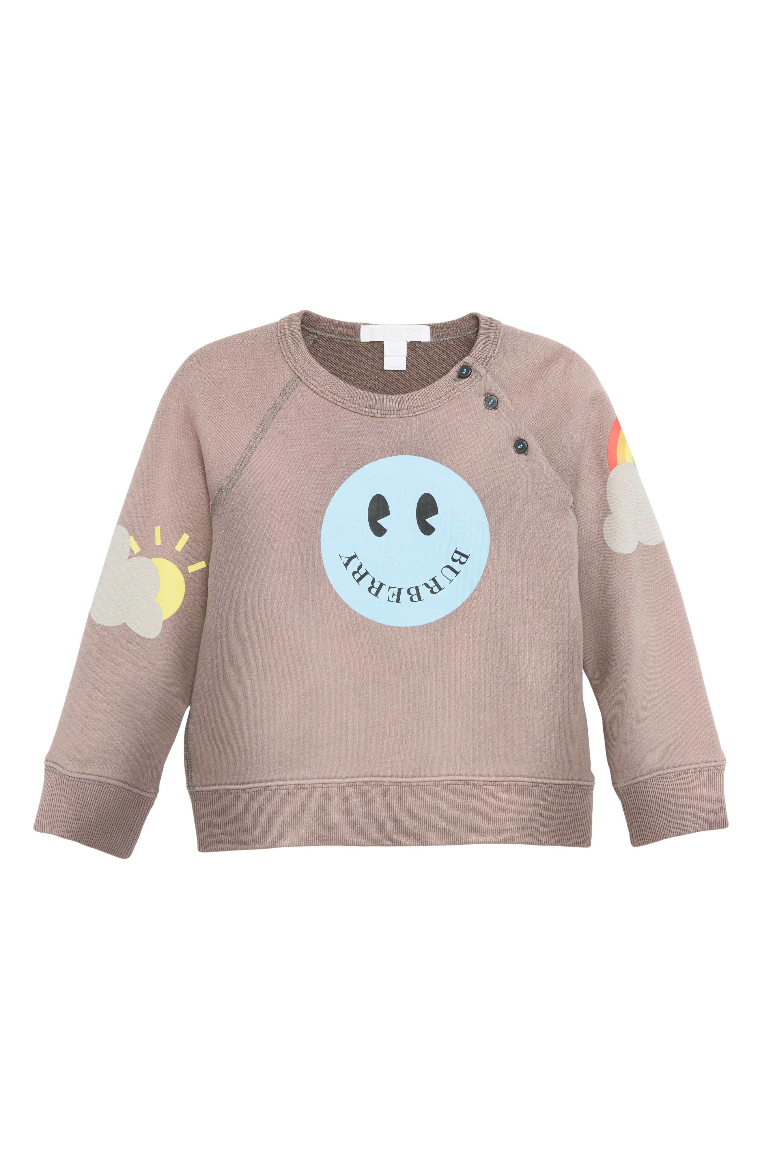 Smiley Face Sweatshirt,                         Main,                         color, MAUVE