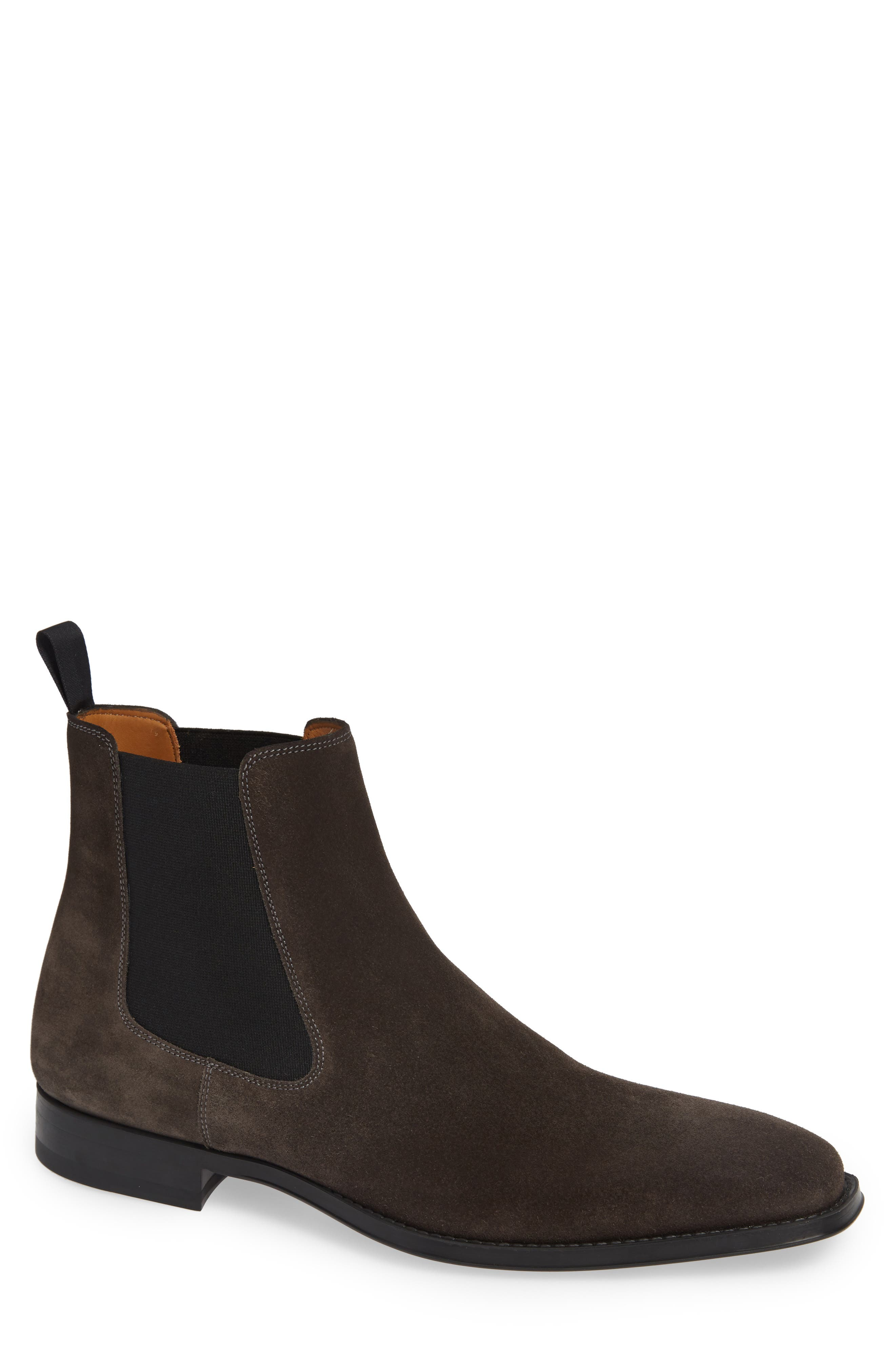 'Sean' Chelsea Boot,                         Main,                         color, GREY LEATHER