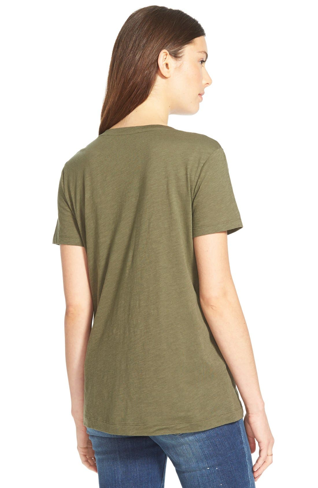 Whisper Cotton V-Neck Pocket Tee,                             Alternate thumbnail 238, color,