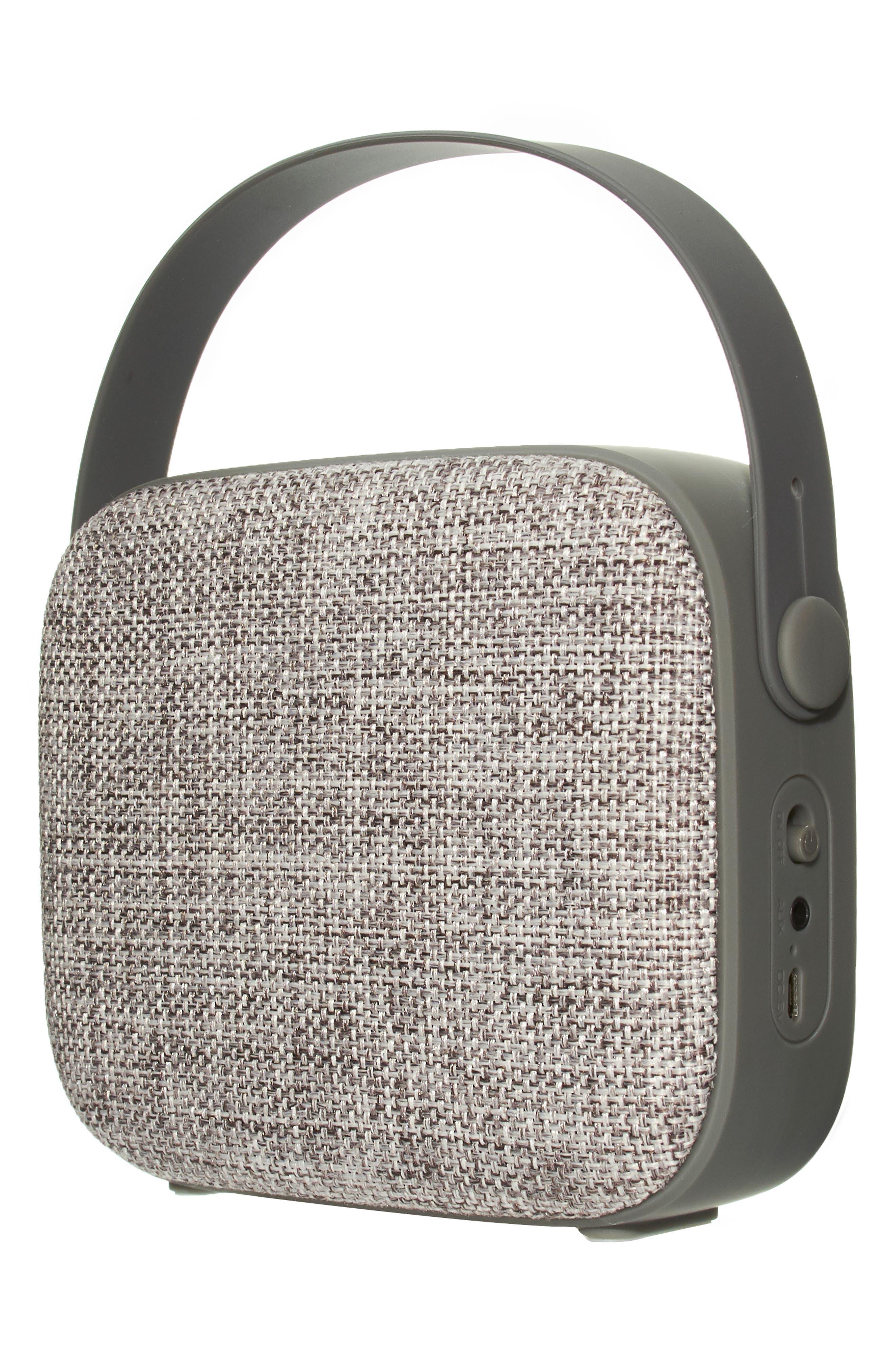 Vintage Wireless Bluetooth<sup>®</sup> Speaker,                             Alternate thumbnail 4, color,                             GREY