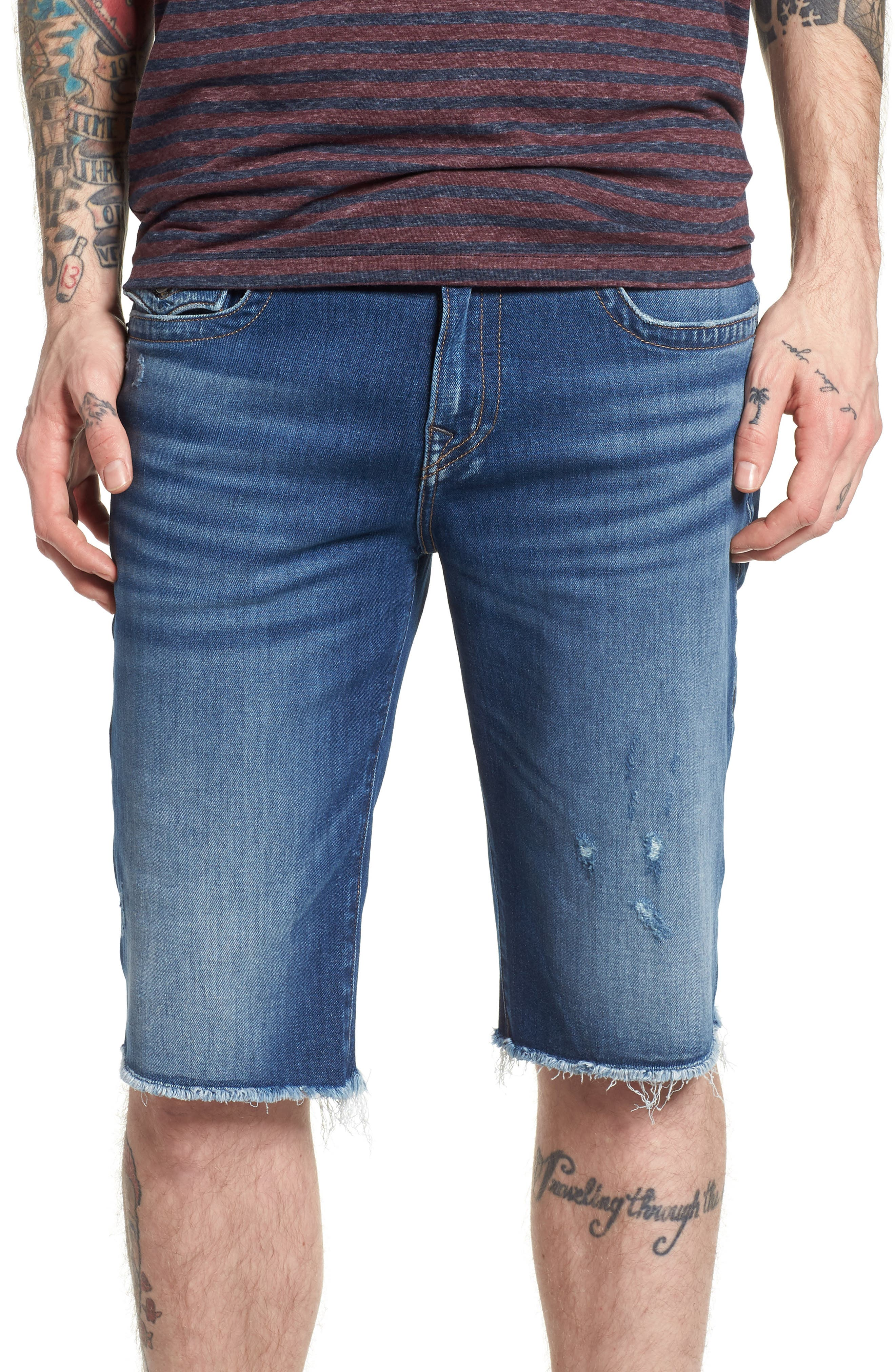 Ricky Relaxed Fit Shorts,                         Main,                         color, DESTROYED TRANSIT