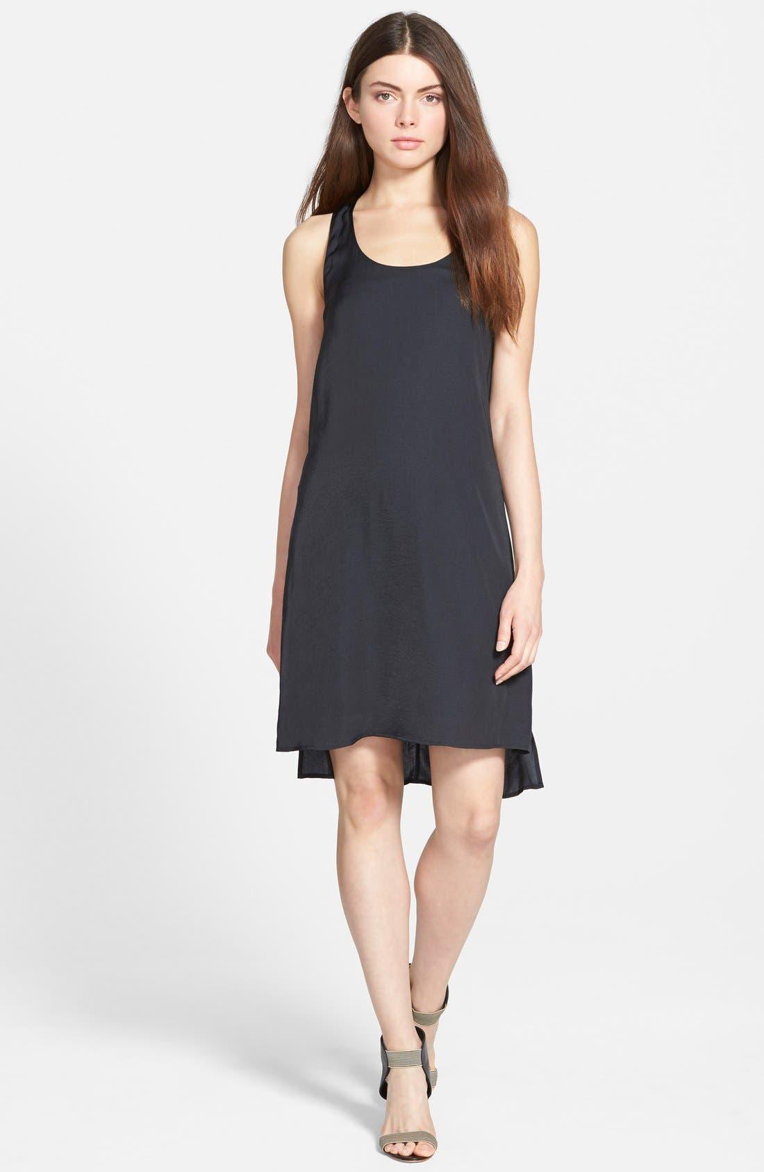 TROUVÉ Twist Back Dress, Main, color, 001