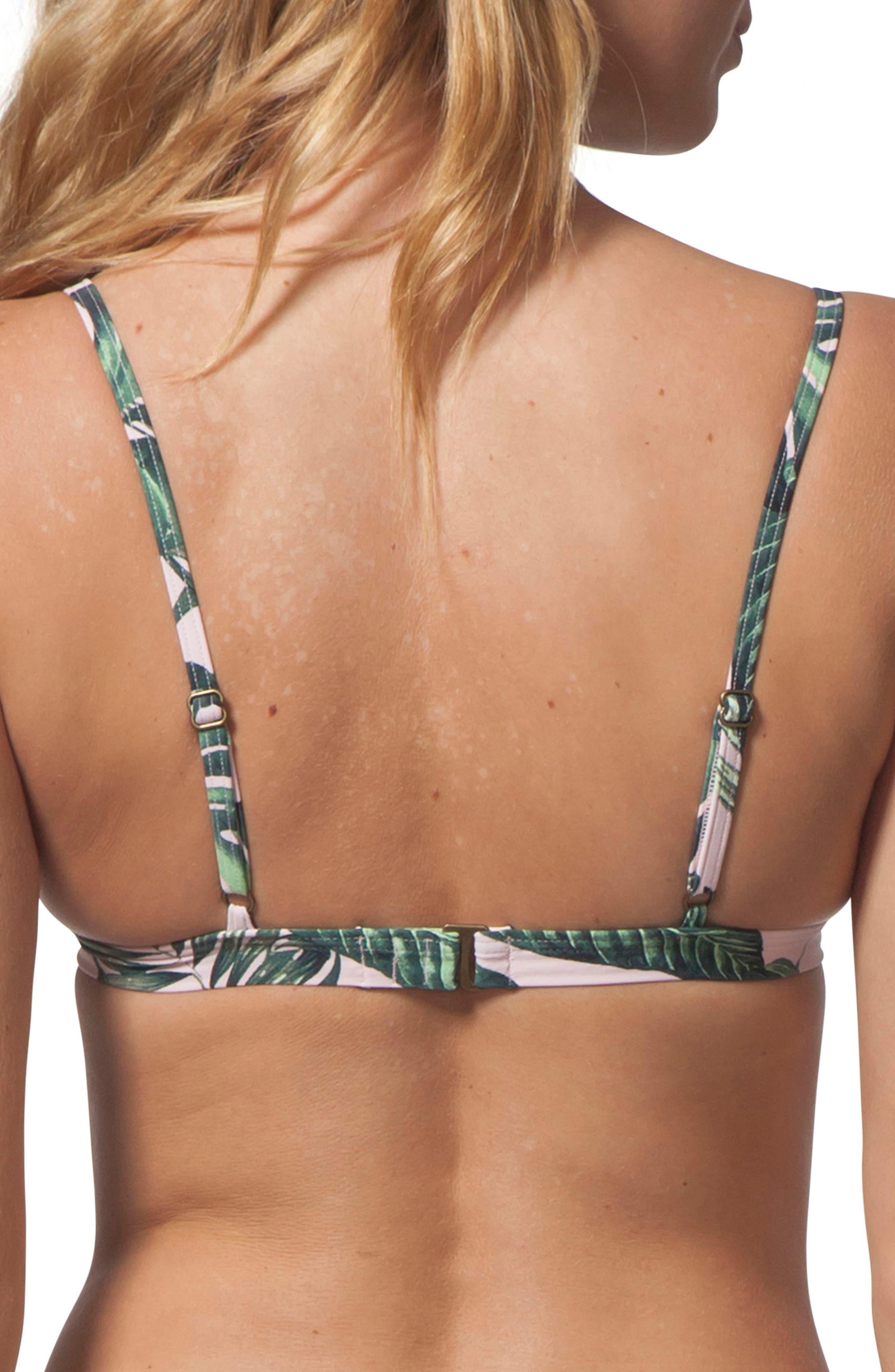 Palm Beach Lace-Up Bikini Top,                             Alternate thumbnail 2, color,                             PINK