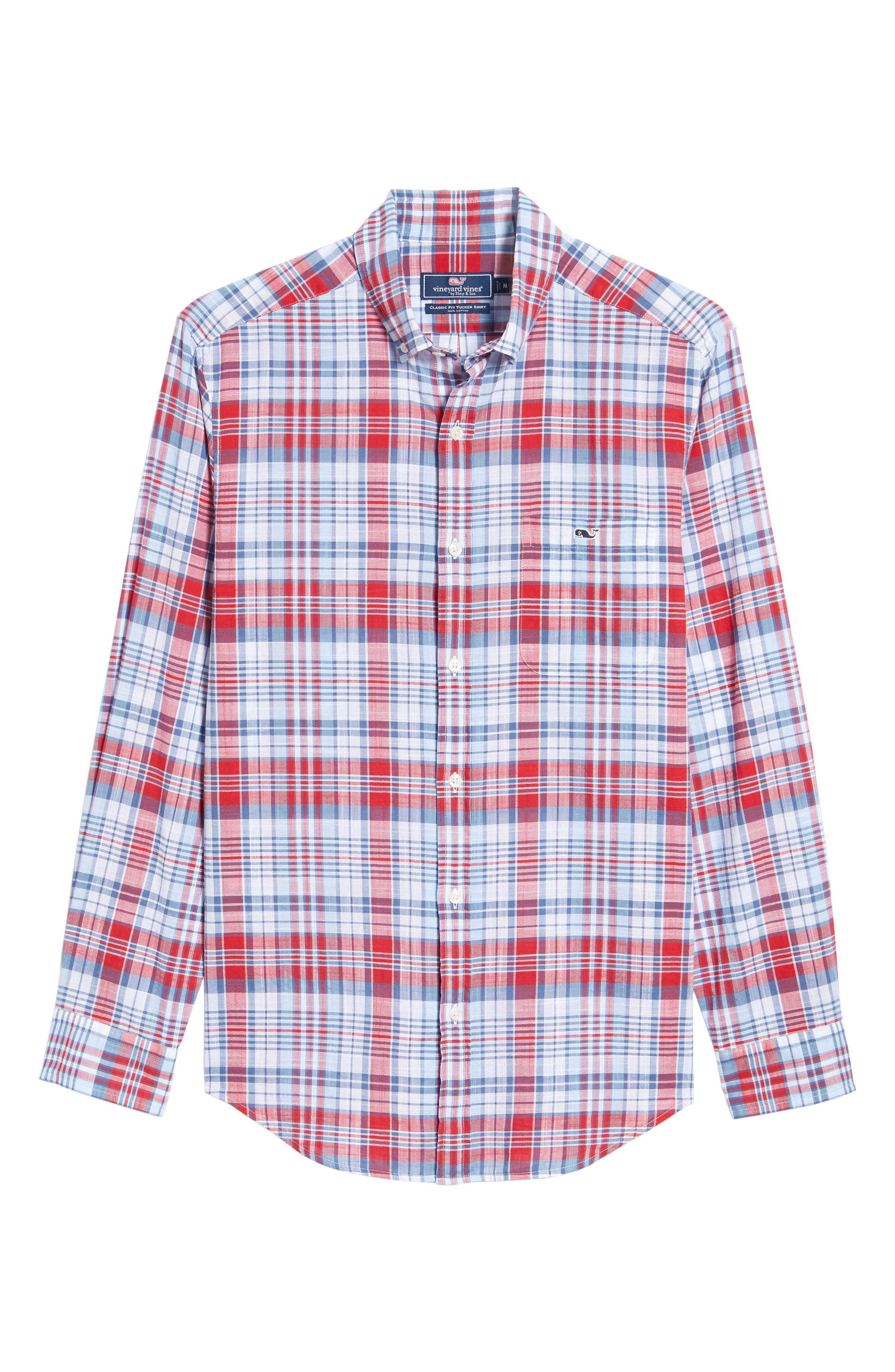 Firework Plaid Tucker Classic Fit Sport Shirt,                             Alternate thumbnail 6, color,                             LIGHTHOUSE RED