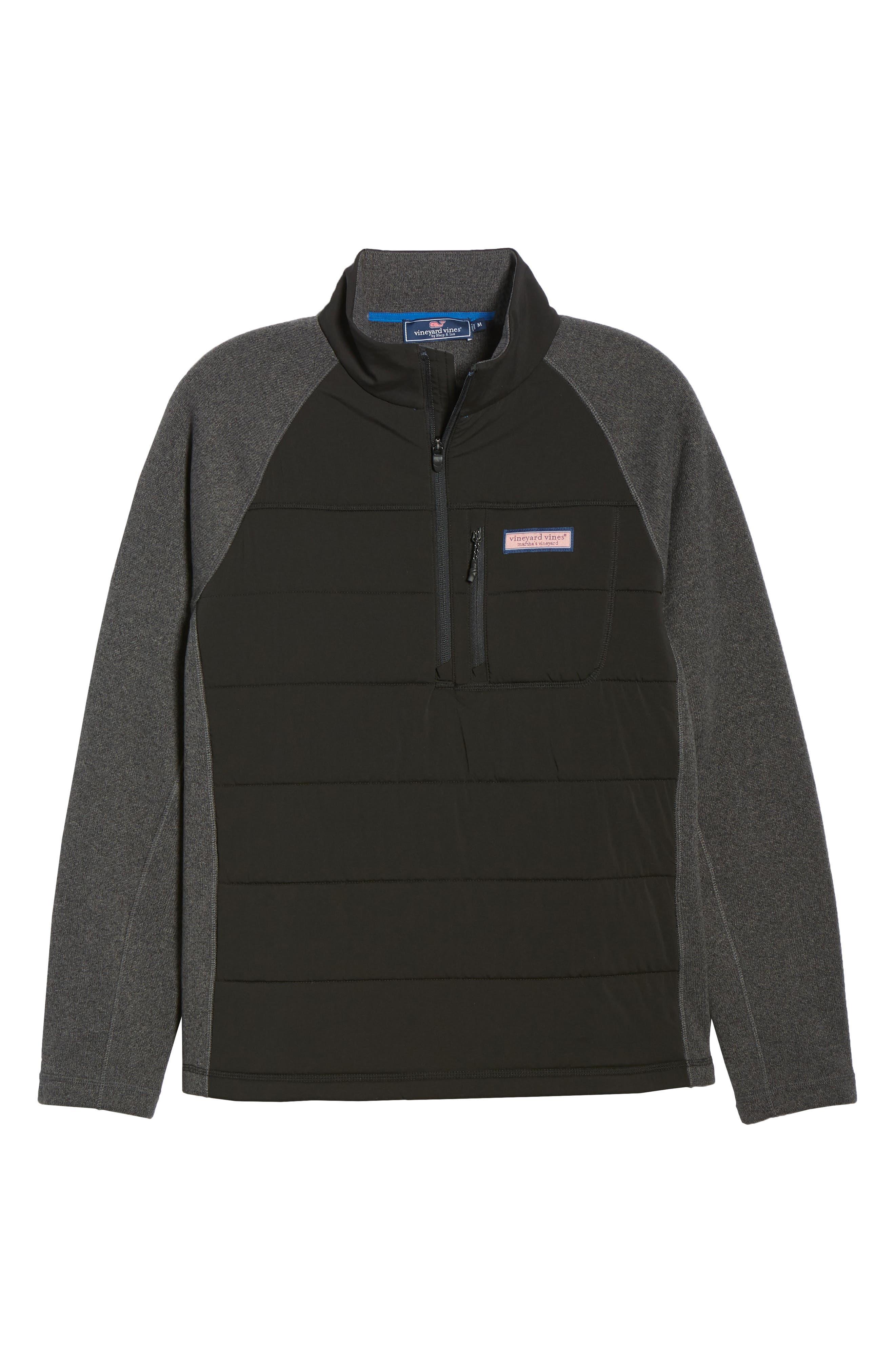 Seaward Fleece Half Zip Pullover,                             Alternate thumbnail 7, color,                             NOCTURNE