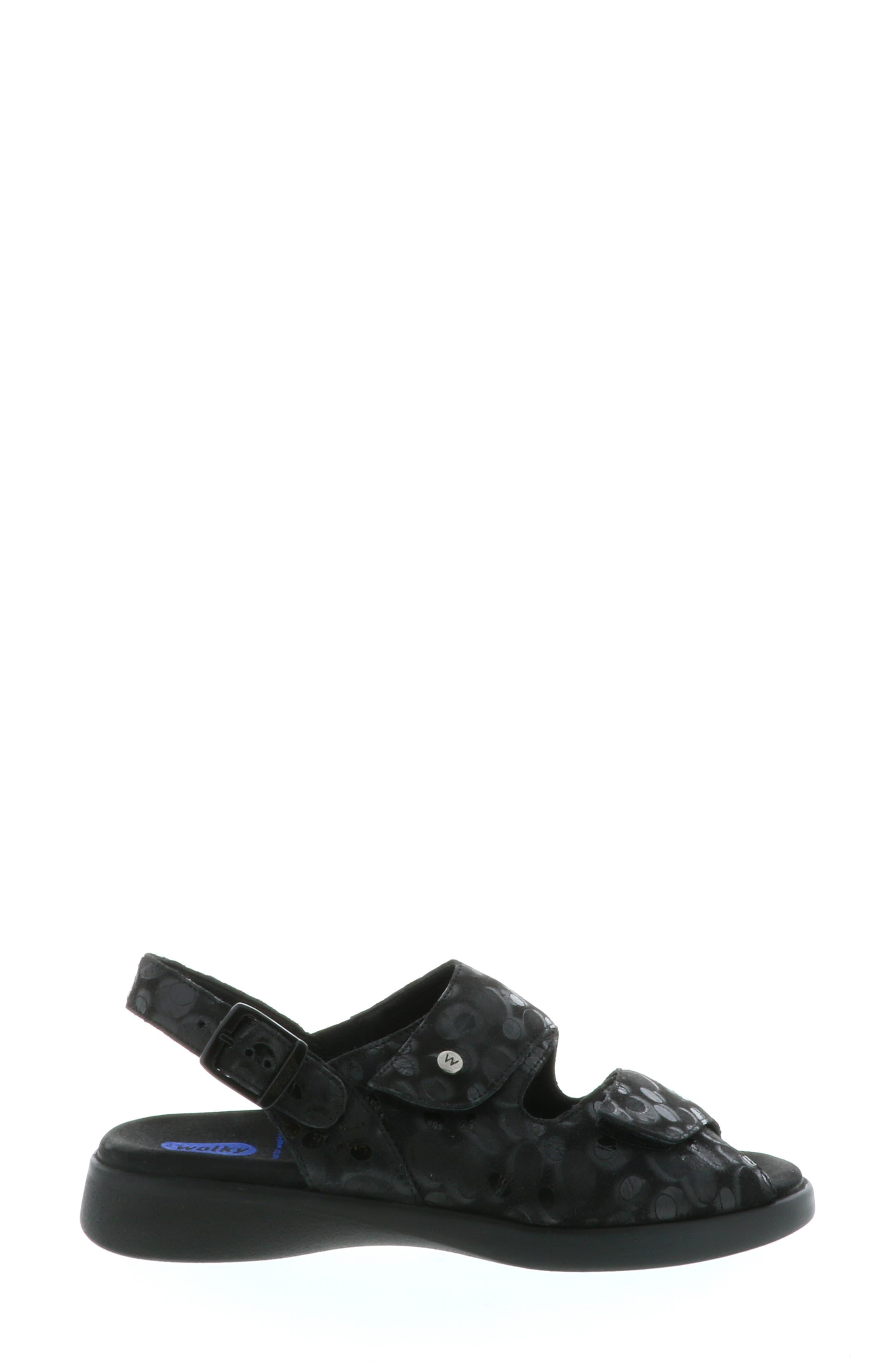 Nimes Sandal,                             Alternate thumbnail 3, color,                             BLACK