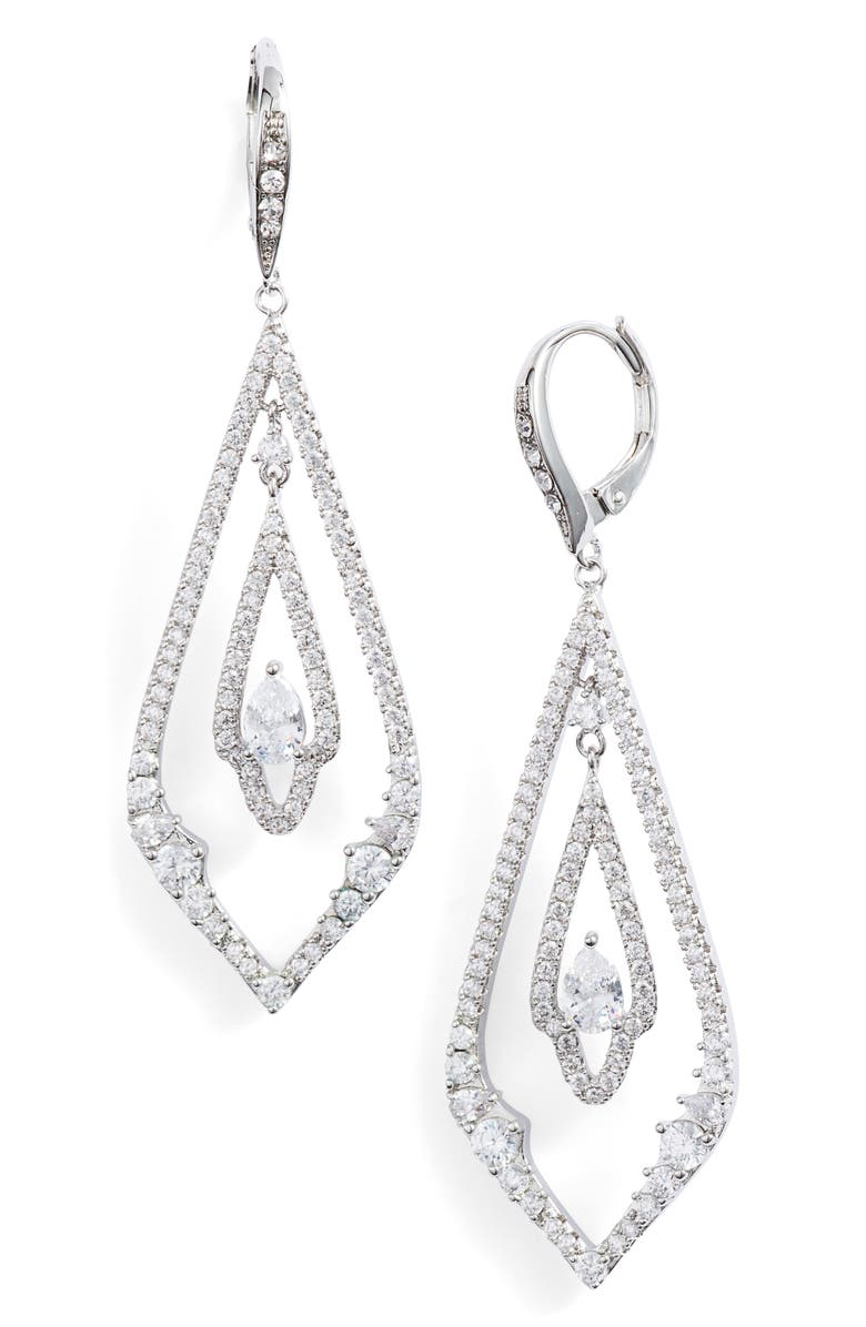 Jenny Packham PAVE DROP EARRINGS