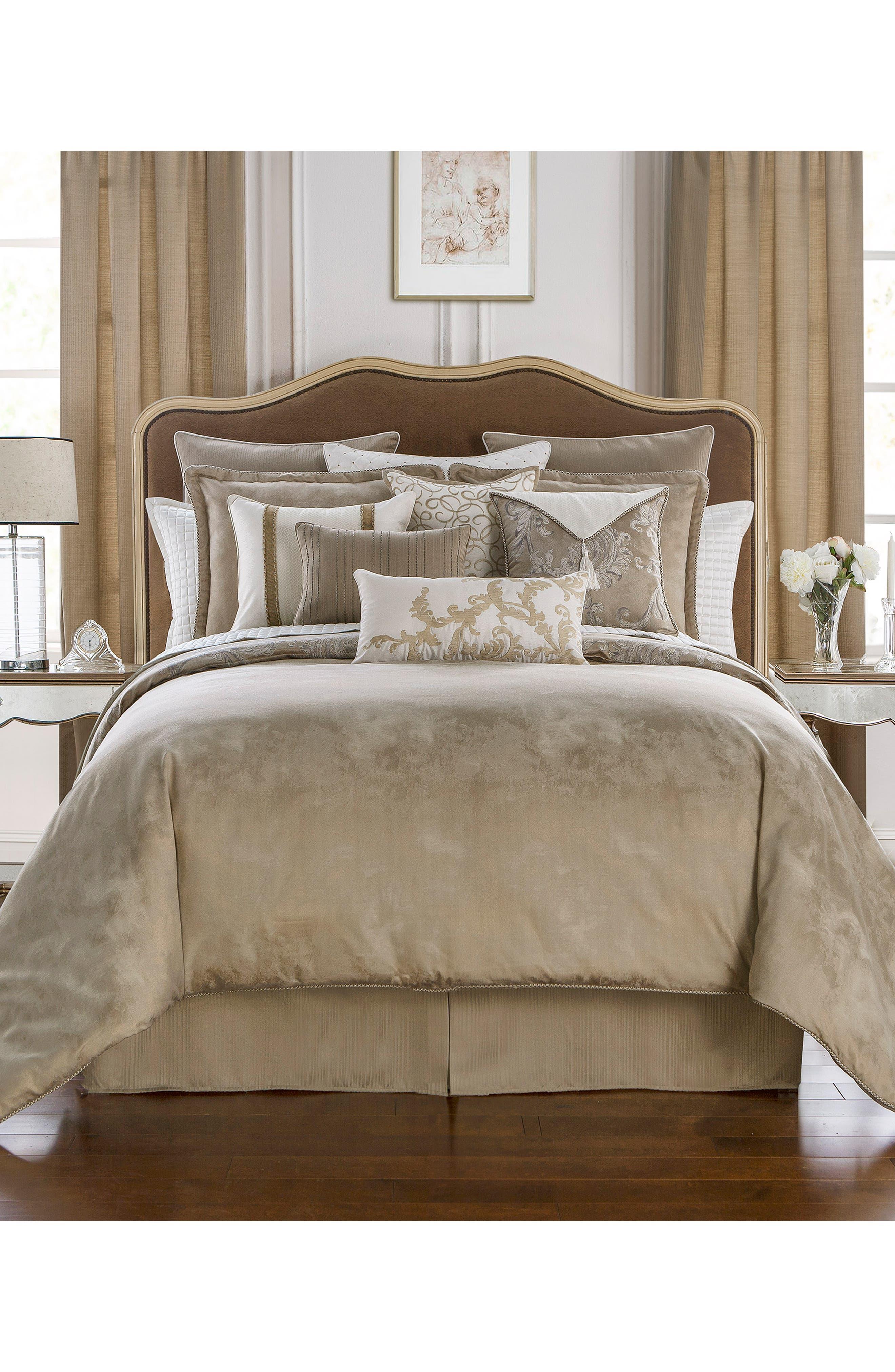 Chantelle Reversible Comforter, Sham & Bed Skirt Set,                             Alternate thumbnail 2, color,                             TAUPE