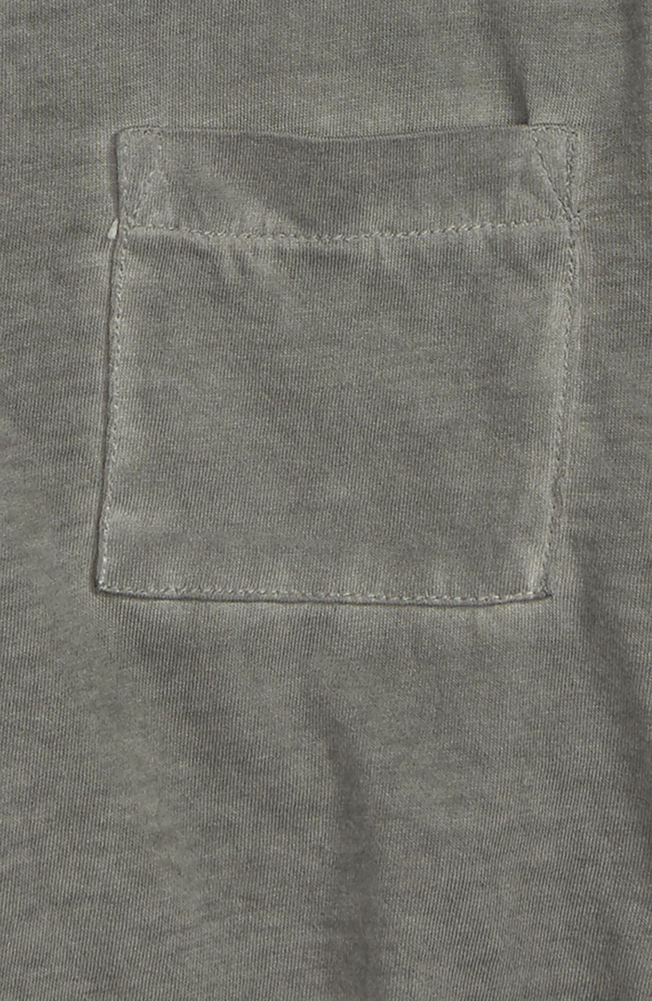 Lace-Up Tee,                             Alternate thumbnail 3, color,                             GREY COBBLE