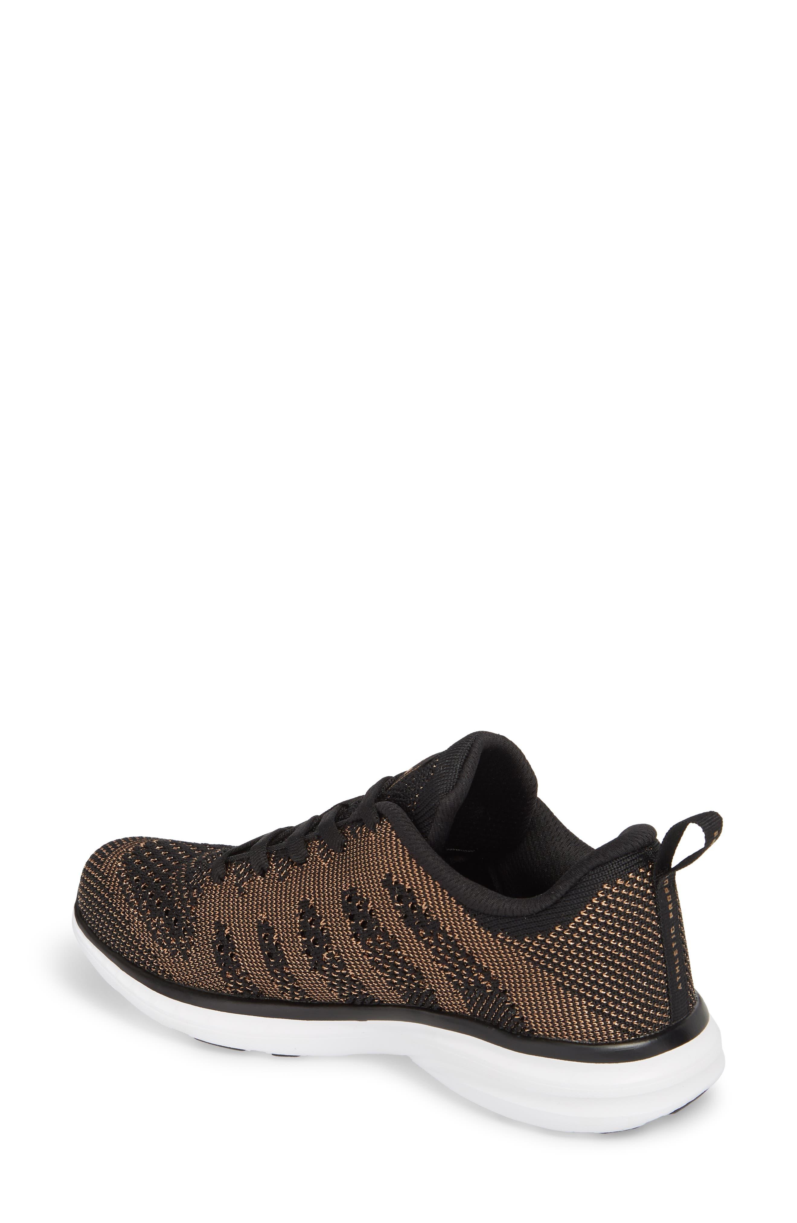 'Techloom Pro' Running Shoe,                             Alternate thumbnail 2, color,                             BLACK/ ROSE GOLD